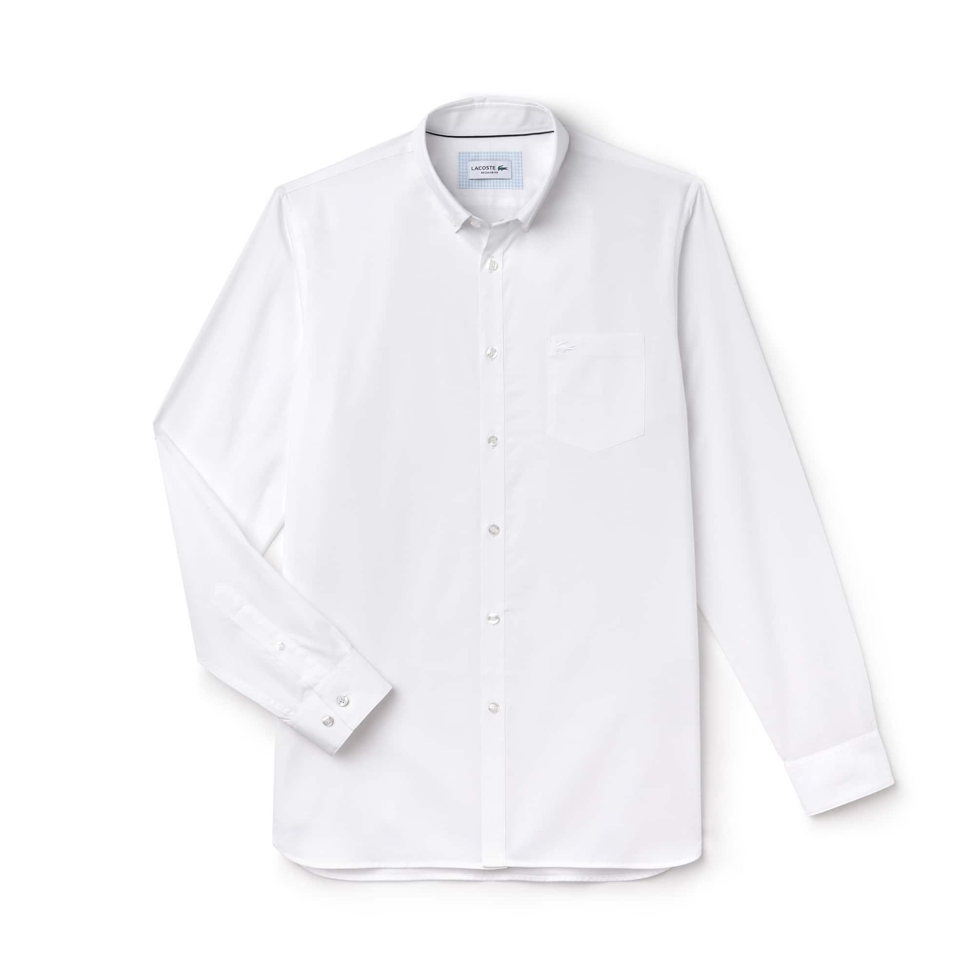 Chemise regular fit en fil à fil de coton uni