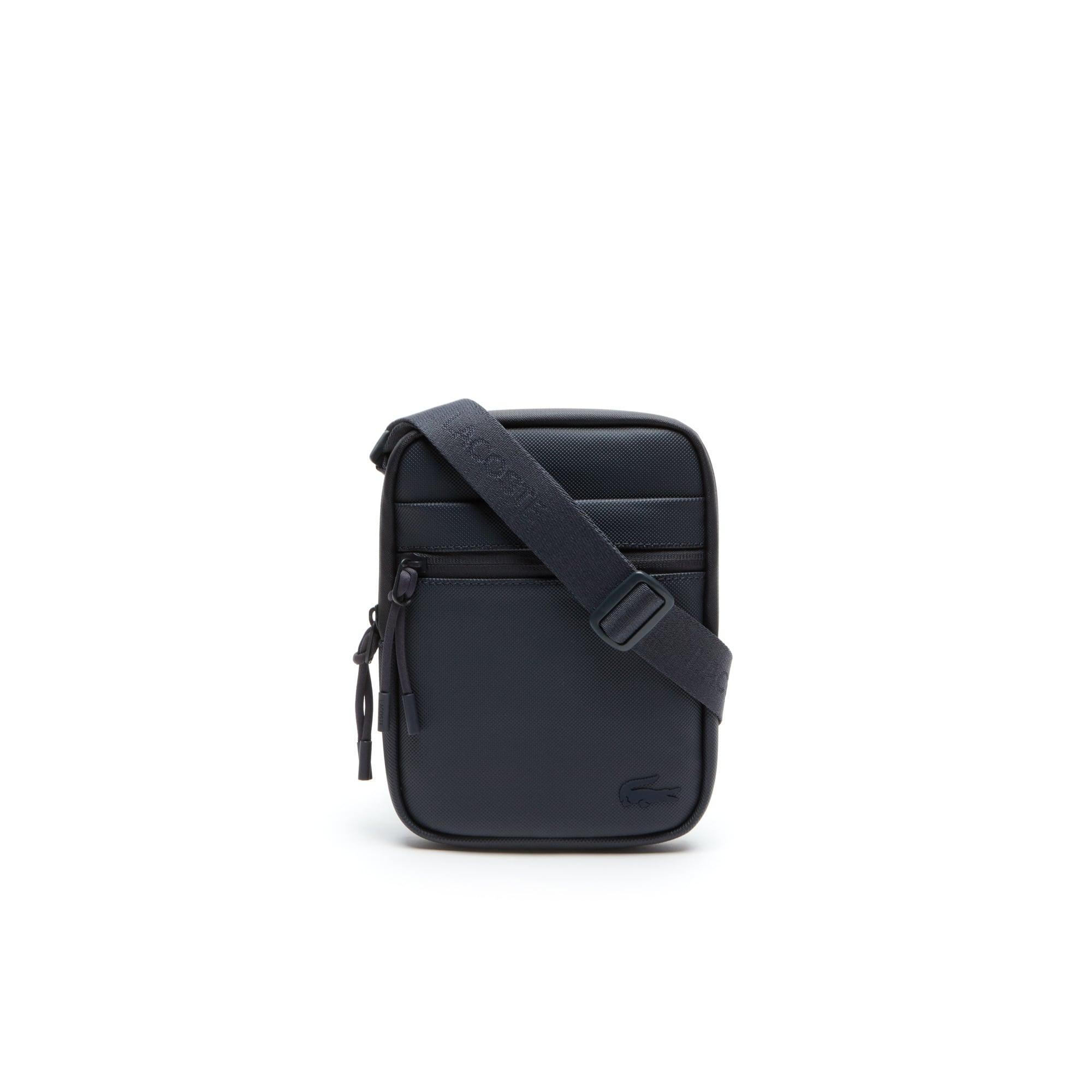 Petite sacoche plate zippée L.12.12 Concept petit piqué uni