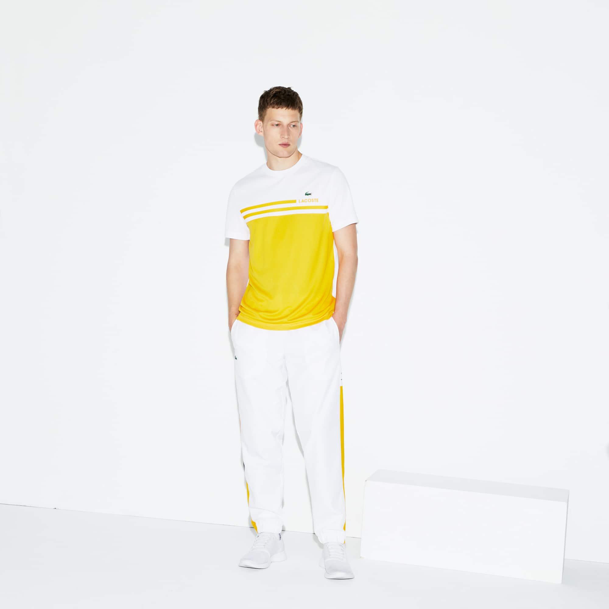 Pantalon de survêtement Tennis Lacoste SPORT avec bande color block