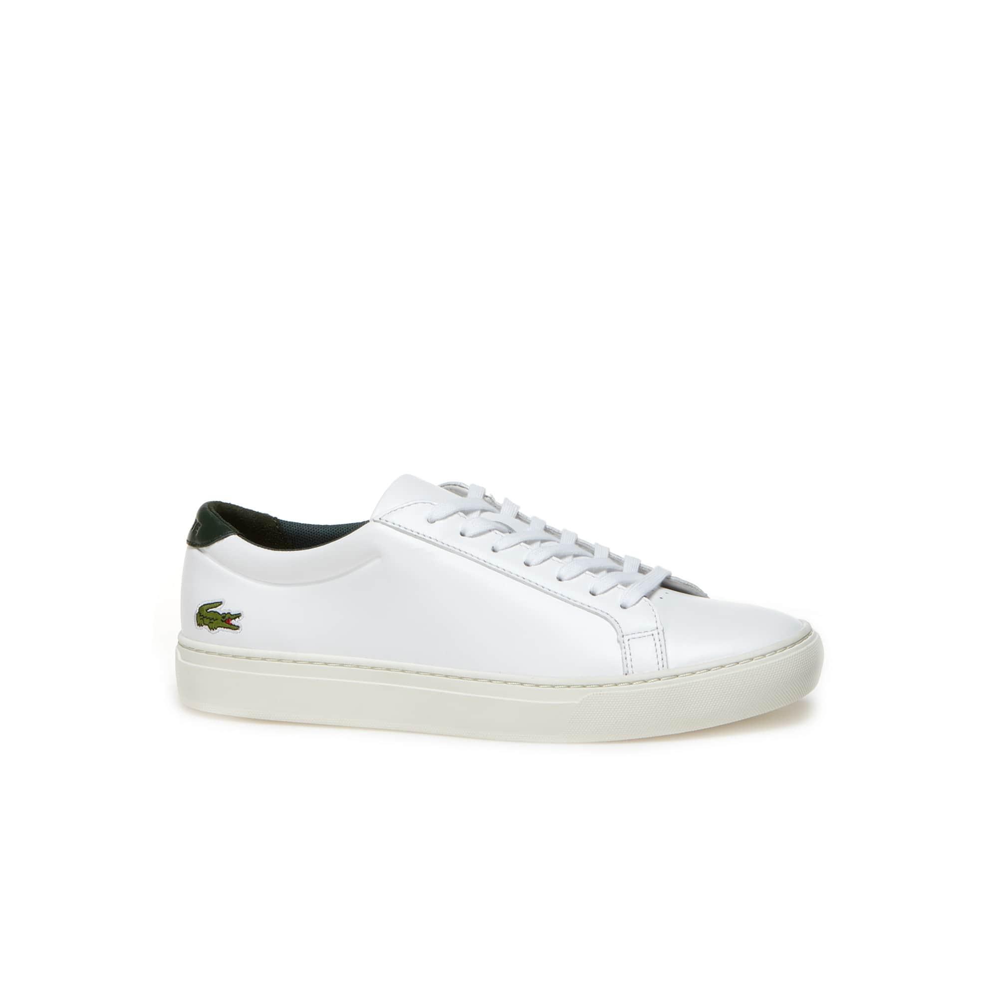 Sneakers L.12.12 en cuir avec talon contrasté