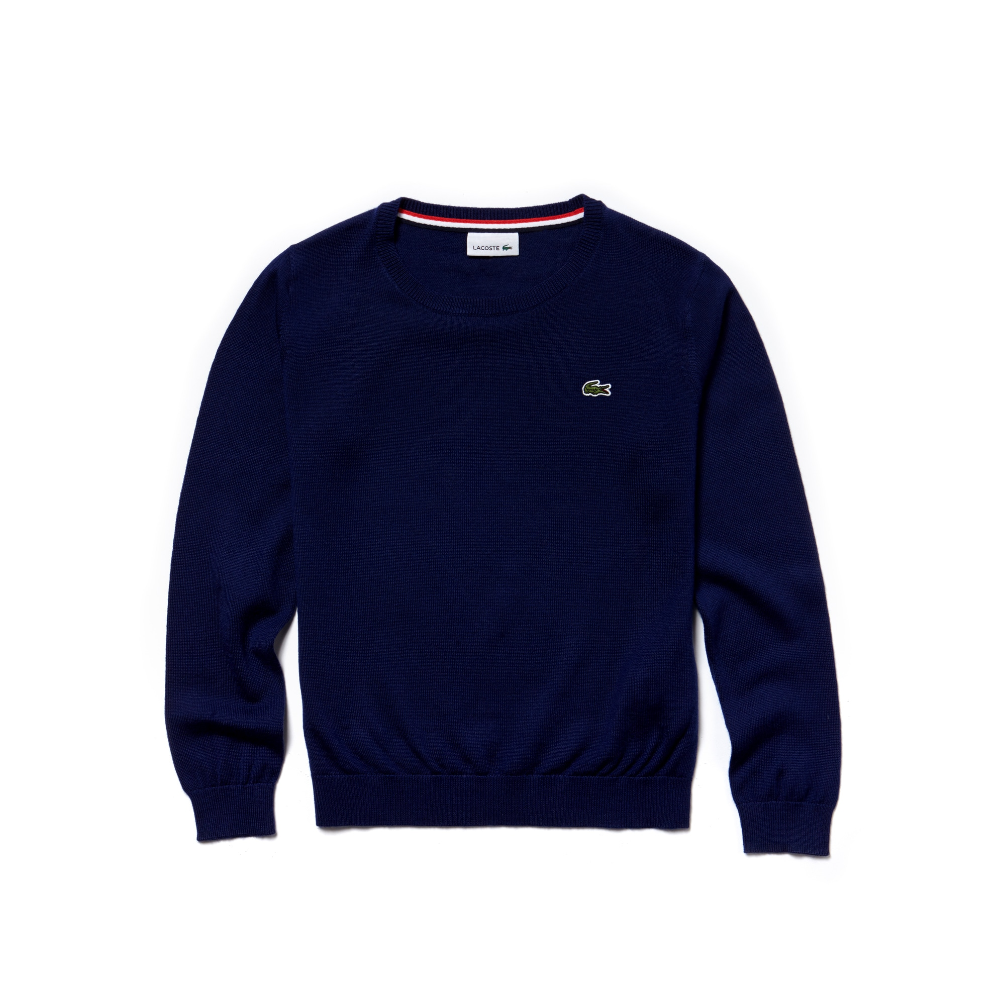 Pull col rond Garçon en jersey de laine mélangée uni
