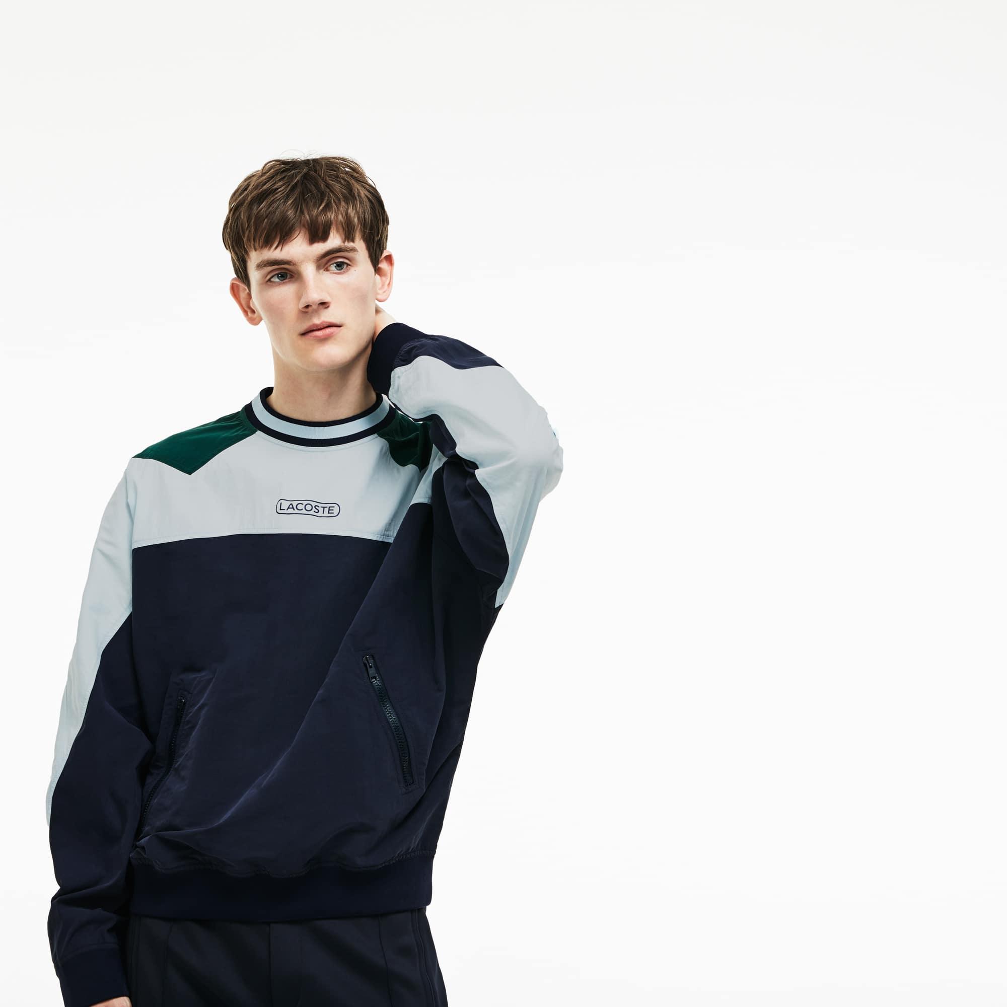 Sweatshirt en canvas technique color block Édition Défilé