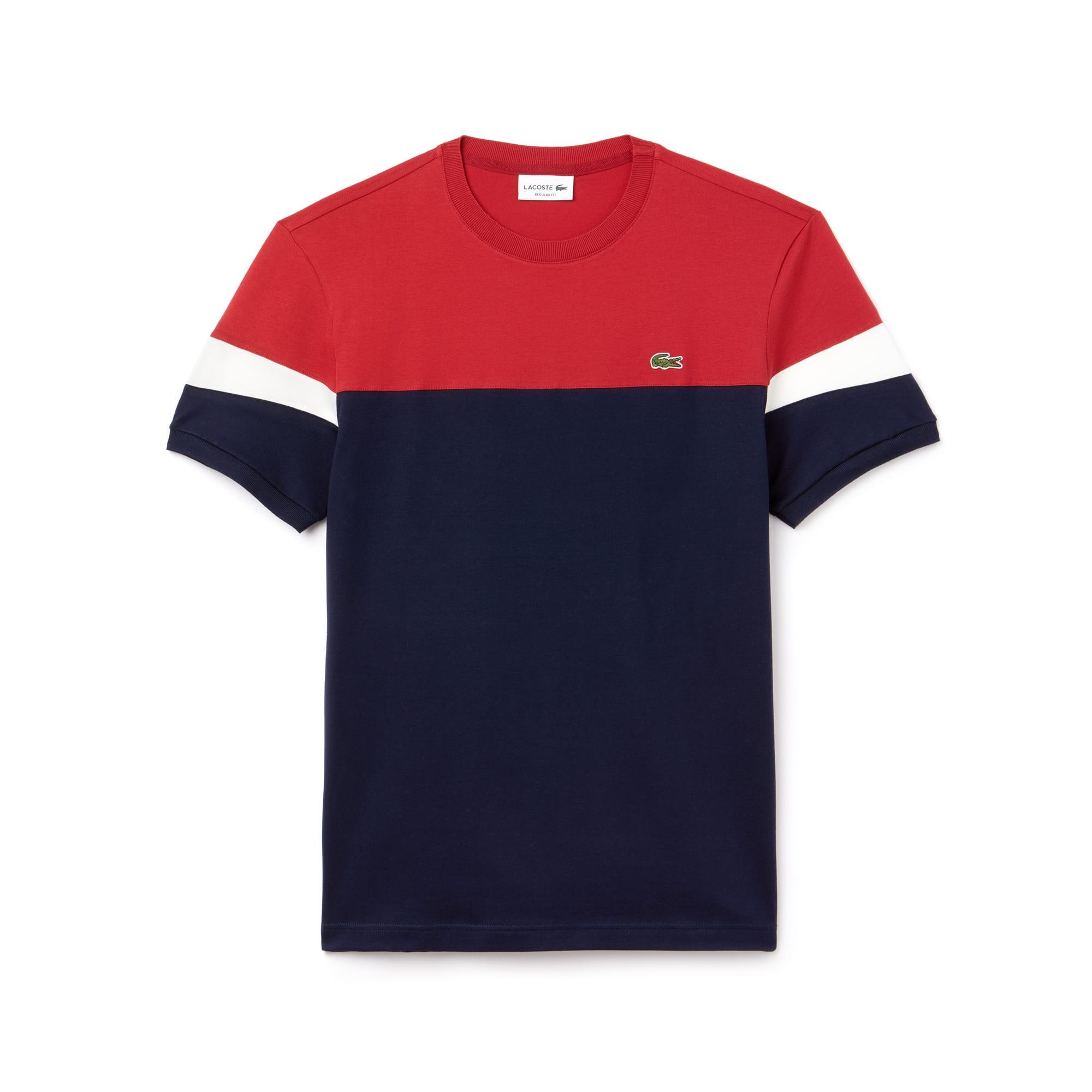 T-shirt col rond en jersey souple color block