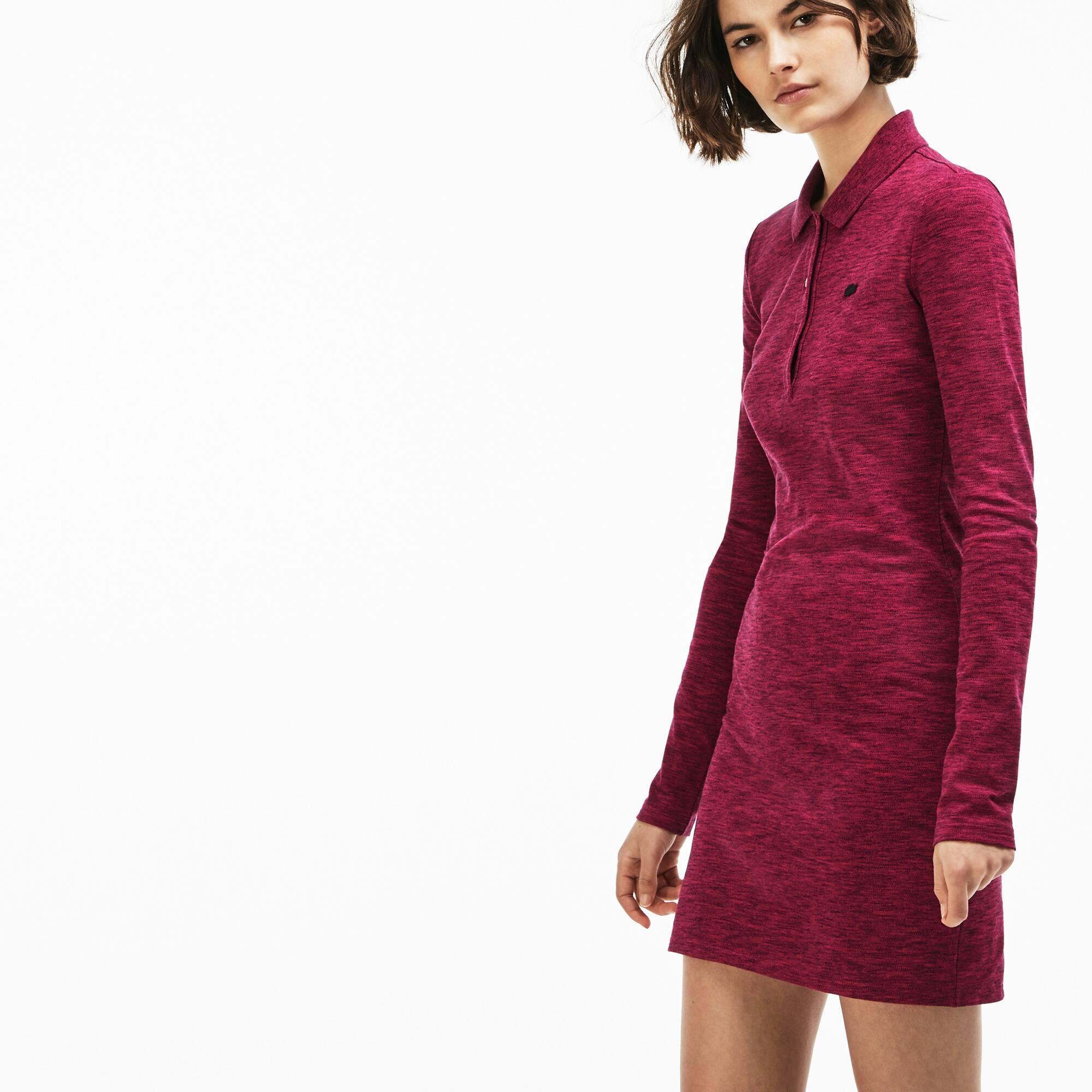 Robe polo slim fit Lacoste LIVE en mini piqué stretch uni