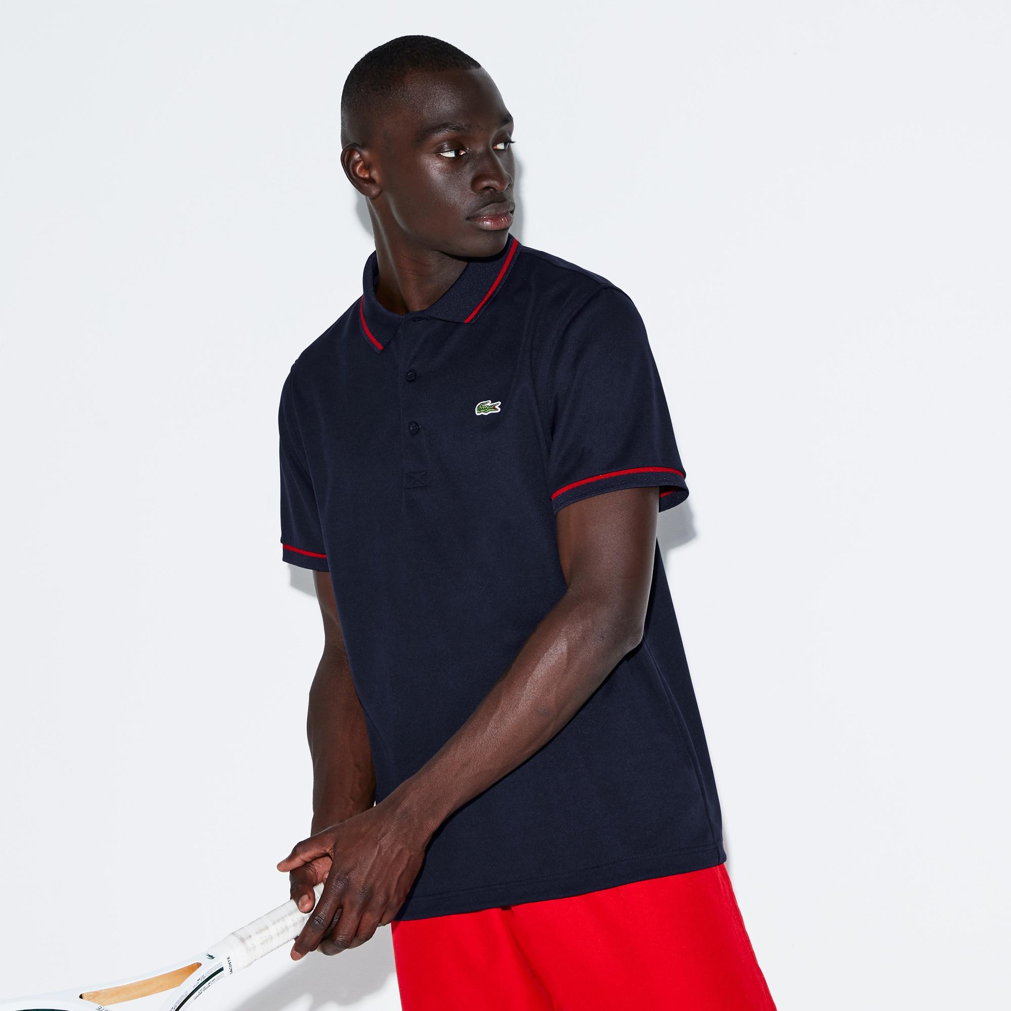 Polo Tennis Lacoste SPORT en piqué technique uni avec piping