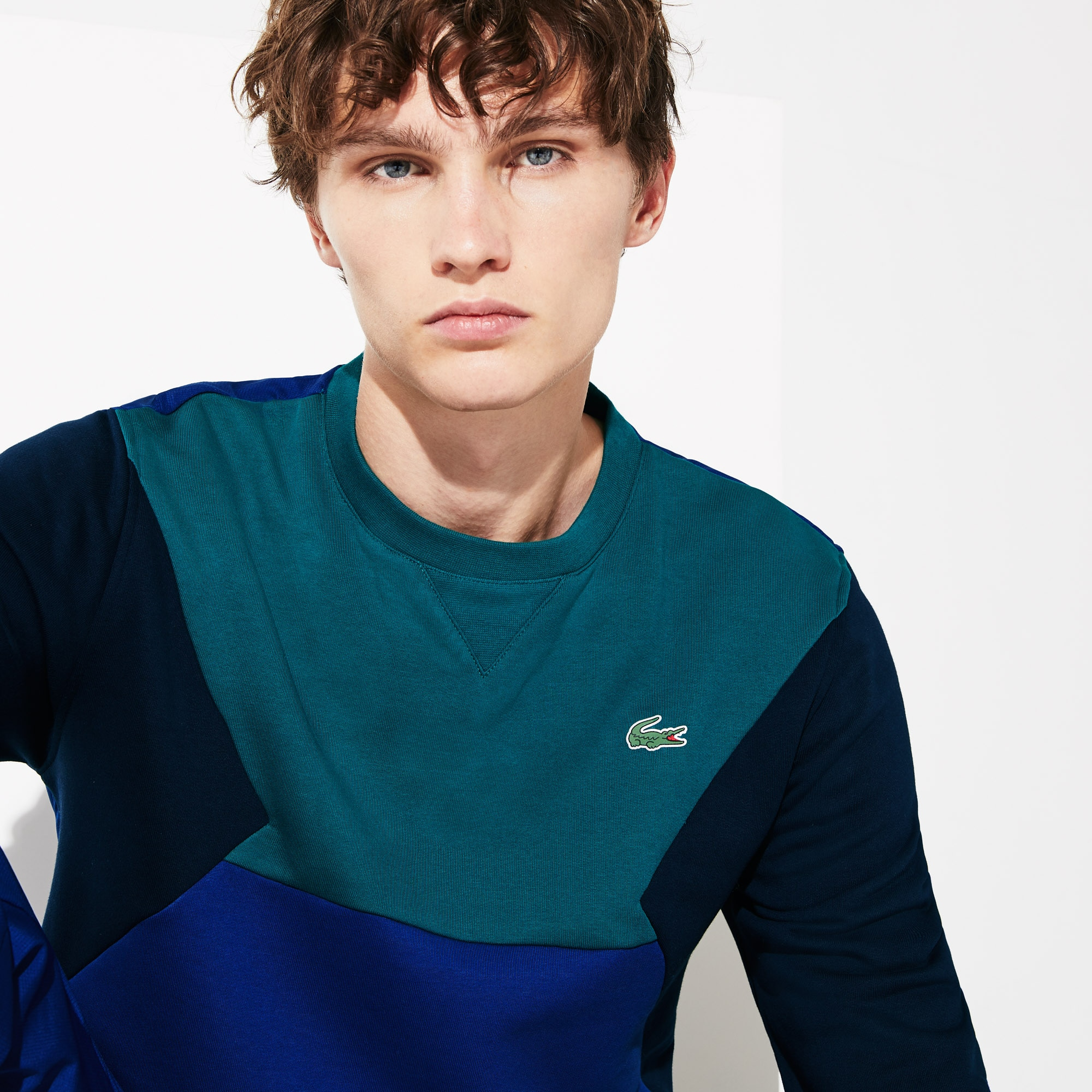 Sweatshirt Tennis Lacoste SPORT en molleton de coton color-block