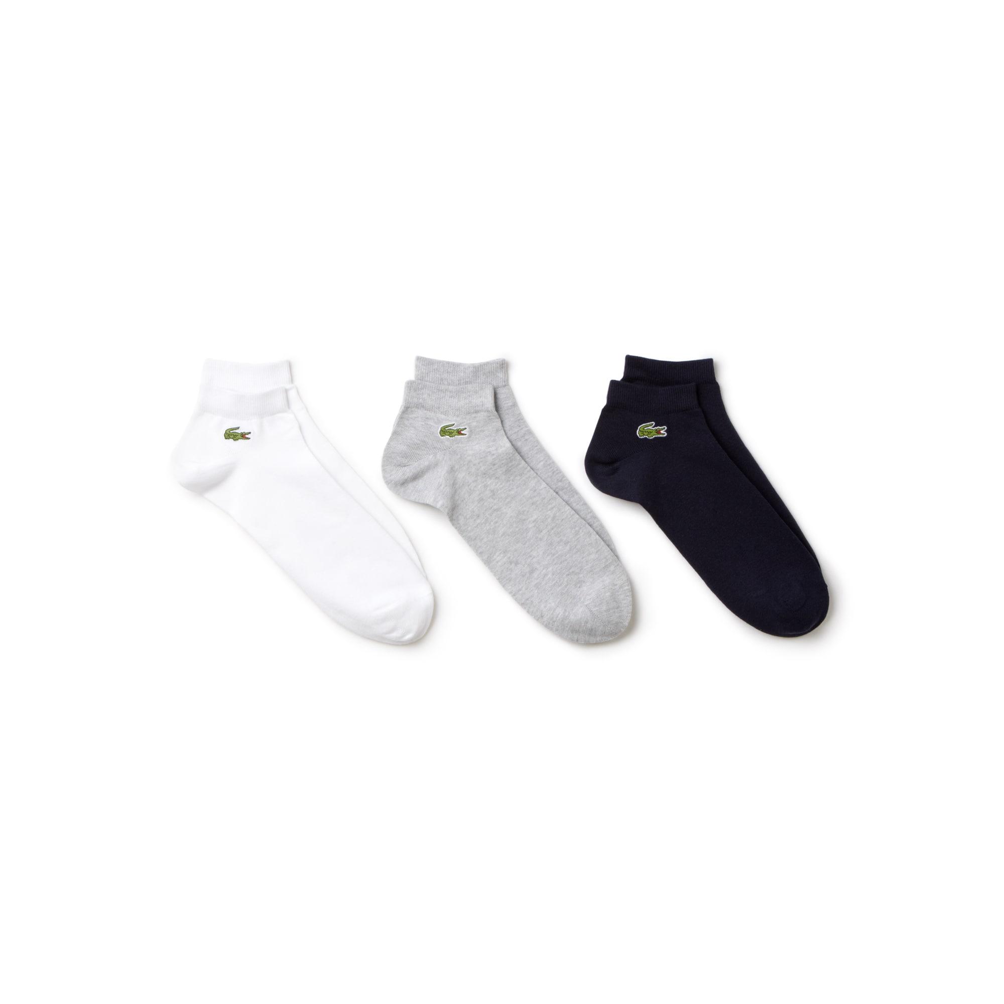 78d2da99af Lot de 3 paires de socquettes Lacoste SPORT en jersey uni | LACOSTE