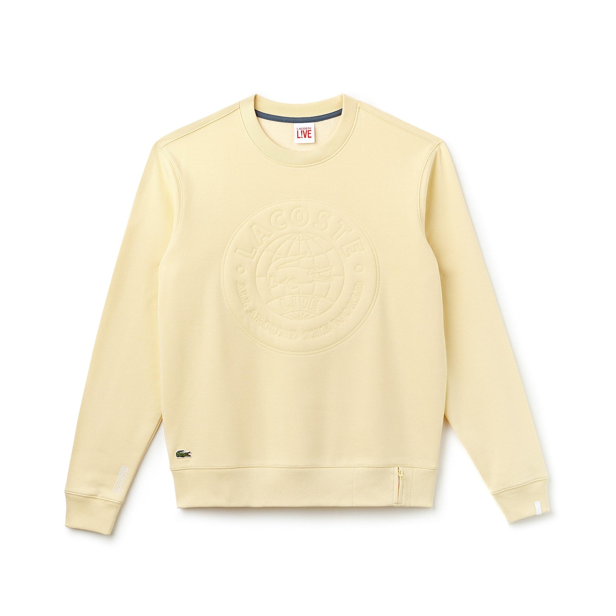 Sweatshirt unisexe Lacoste LIVE en coton avec marquage logo