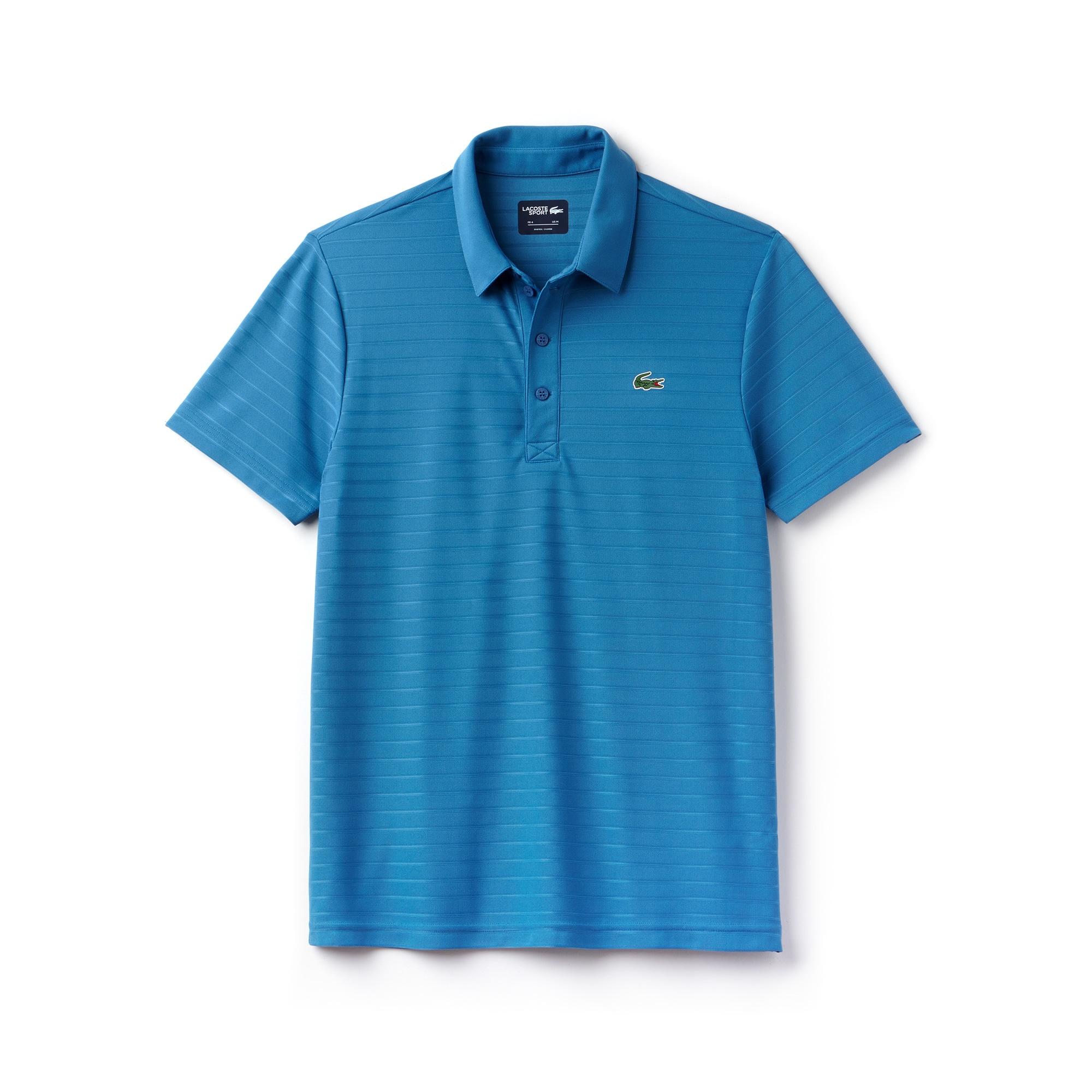 Polo Golf Lacoste SPORT en jersey jacquard technique rayé
