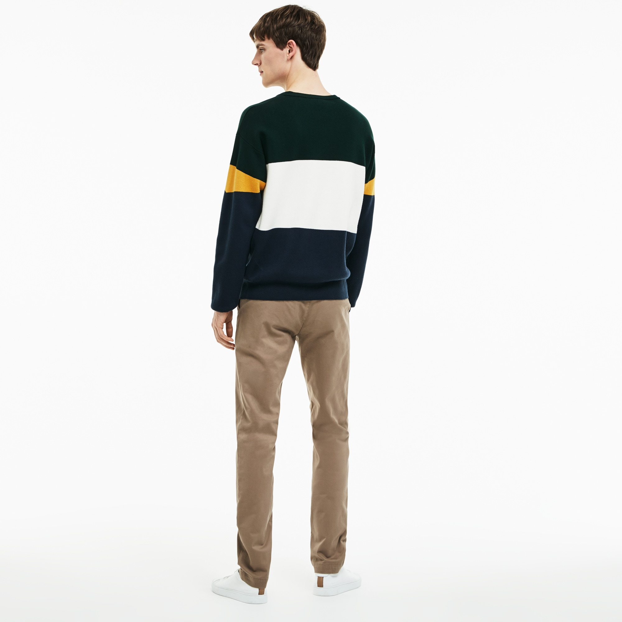 784ffc2d09 Pantalon chino slim fit en gabardine stretch unie   LACOSTE