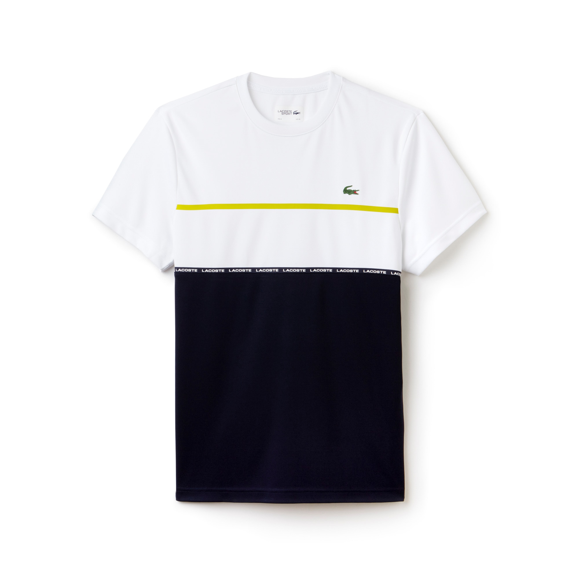 T-shirt Tennis Lacoste SPORT en piqué technique color block