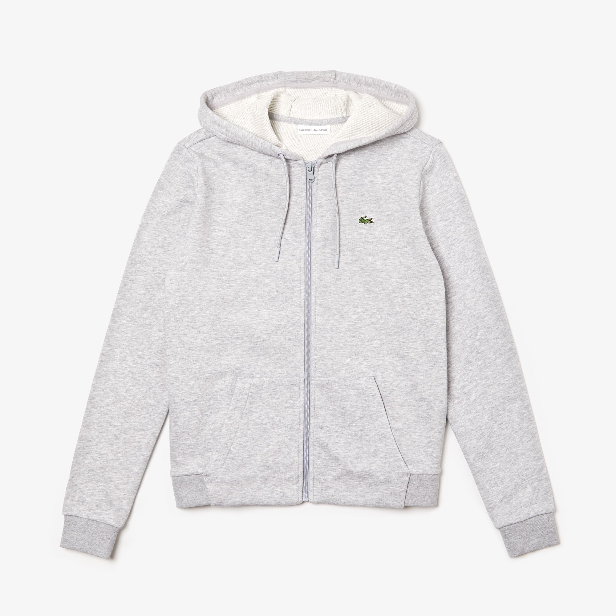 Sweatshirt zippé à capuche Tennis Lacoste SPORT en molleton