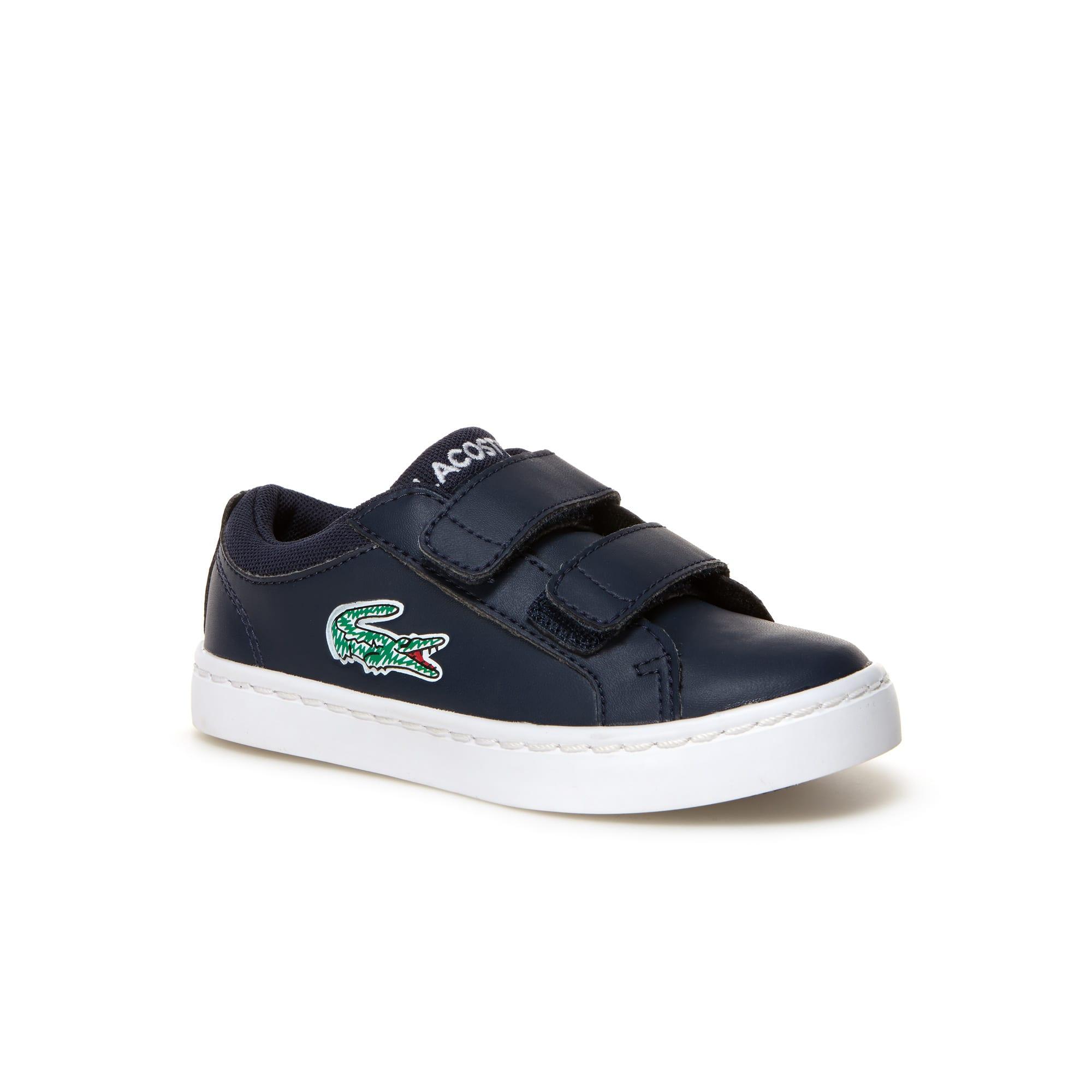 Sneakers Enfant Straightset Lace en simili-cuir avec fermeture à scratch