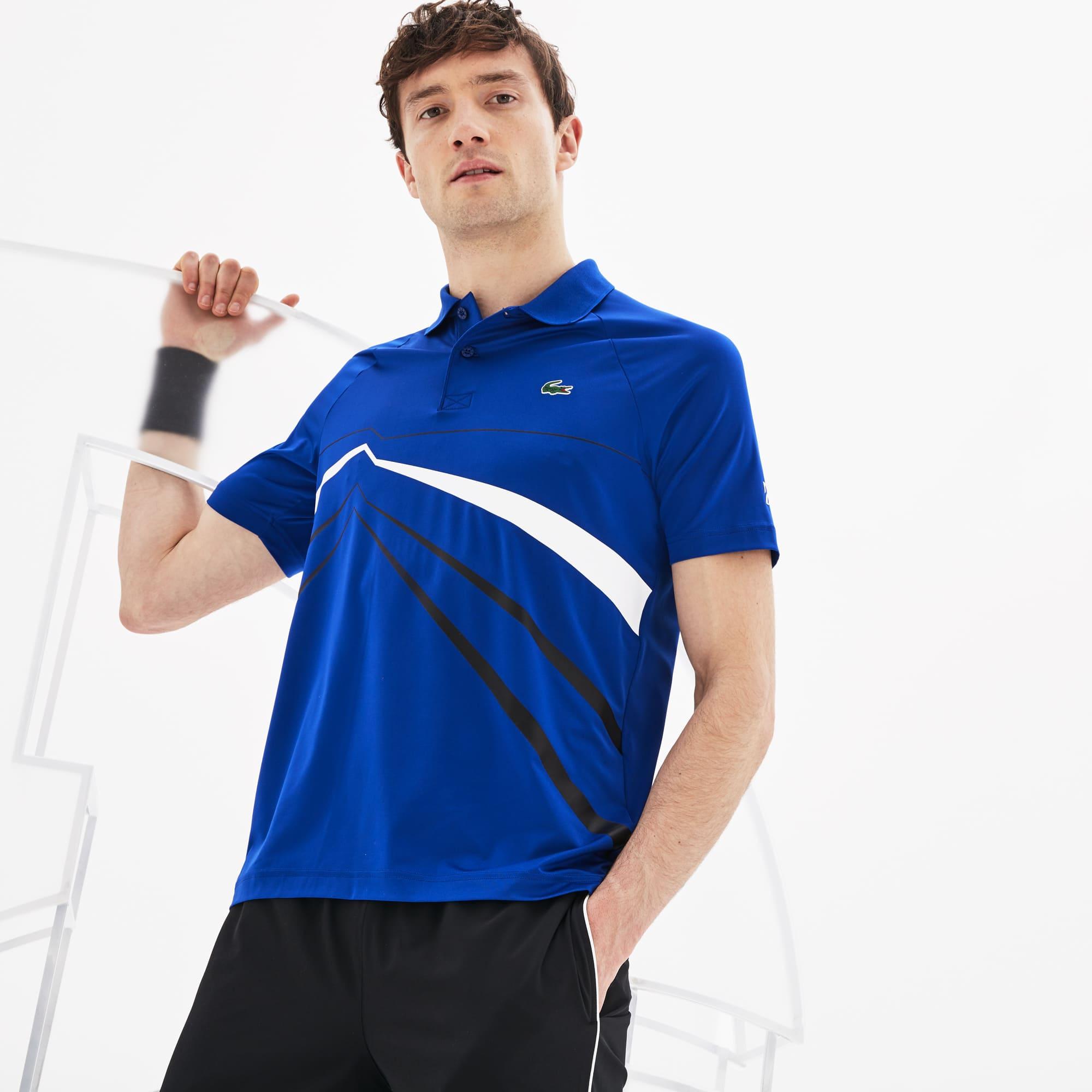 1da057fdd8 Polo Lacoste SPORT x Novak Djokovic stretch à imprimé graphique ...
