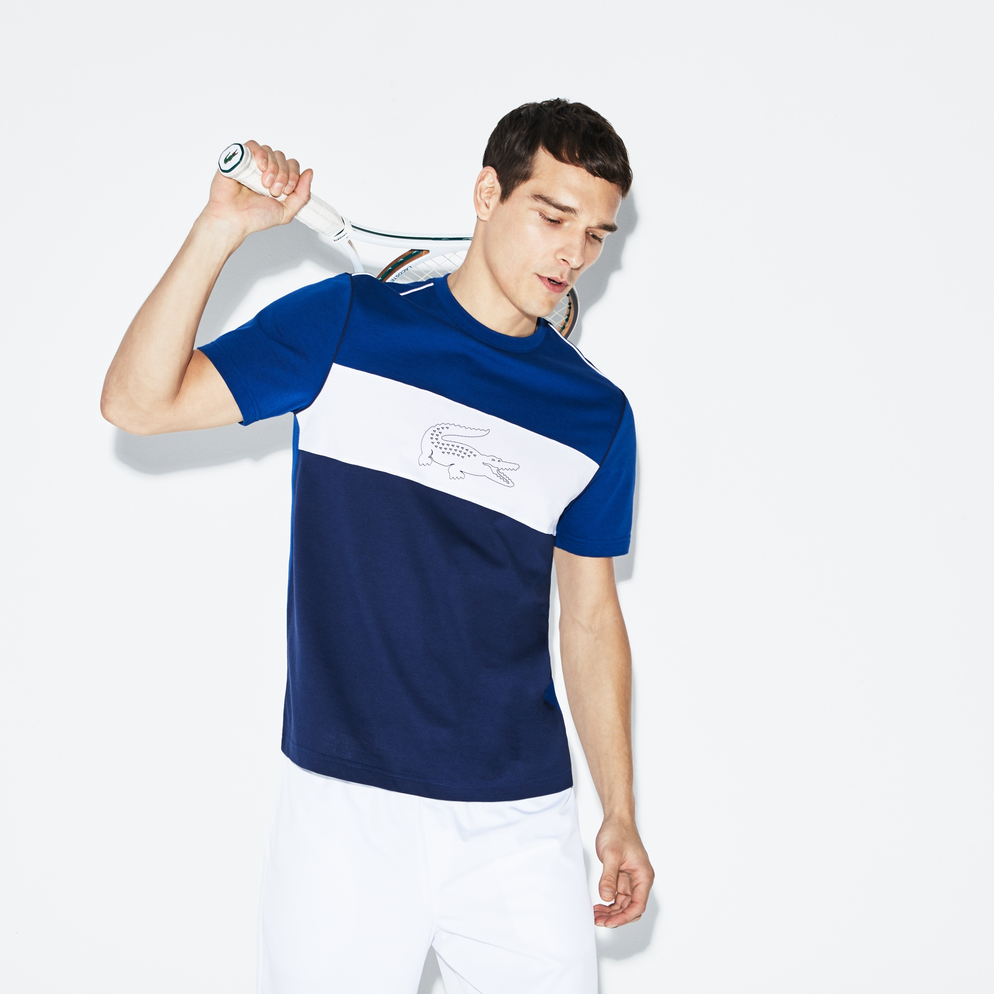 T-shirt Lacoste SPORT en coton ultra léger technique color block