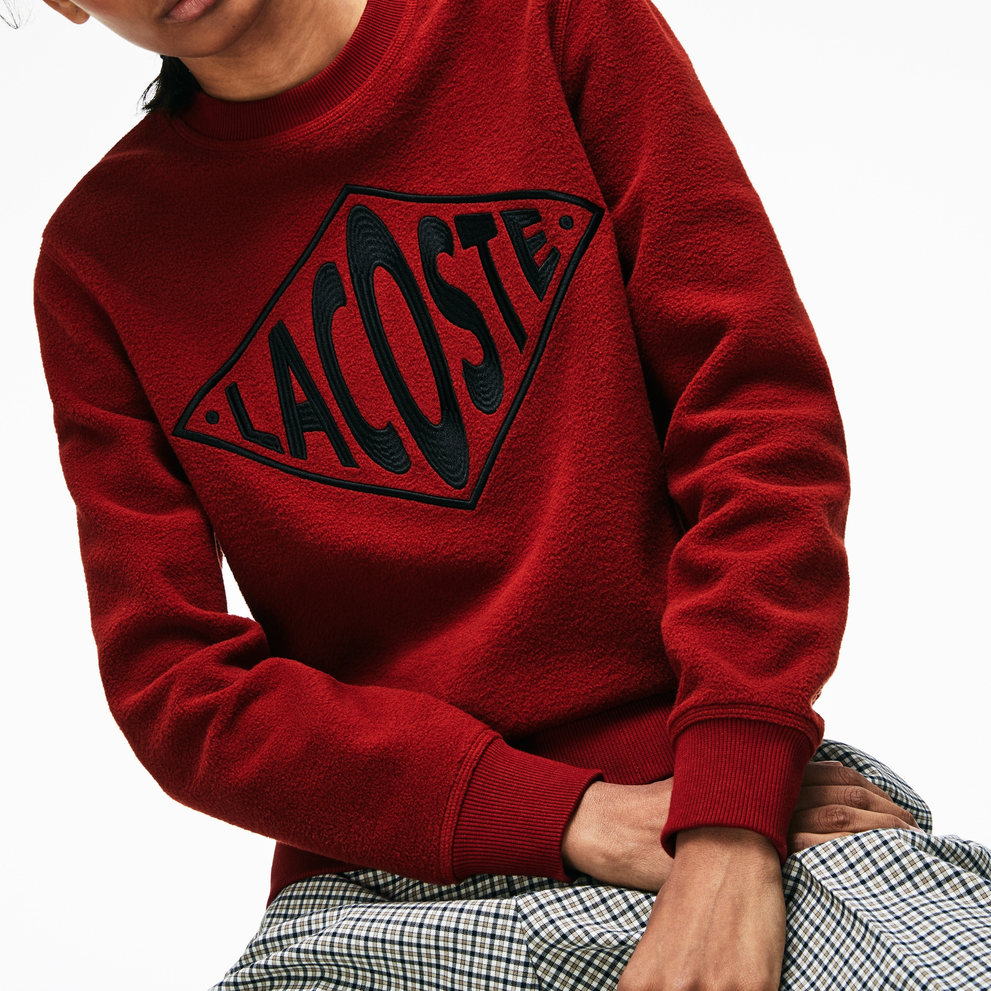 Sweatshirt Unisexe Live Polaire Col En Rond Lacoste nN8OwyvPm0