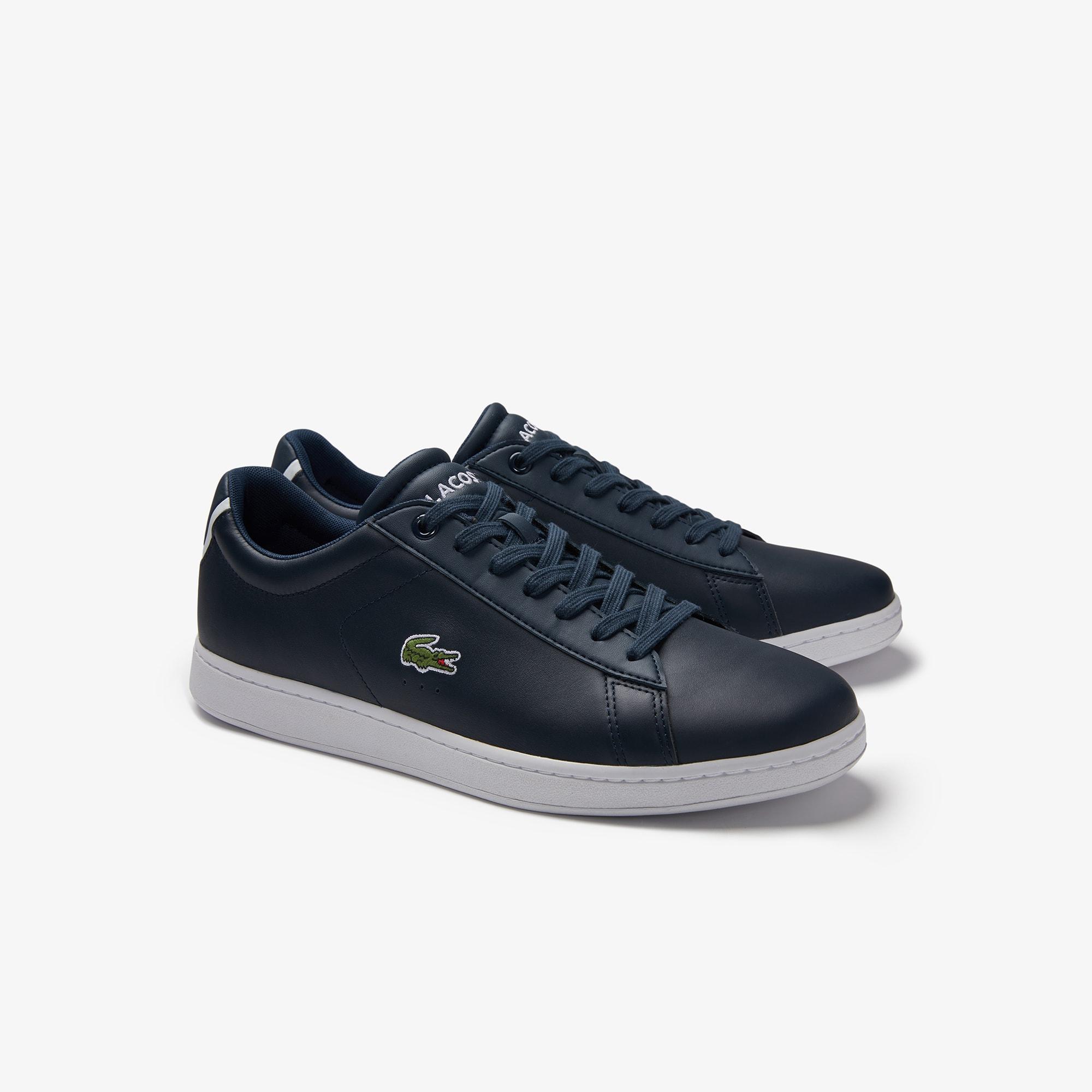 Carnaby Evo Contrastés Lacoste Détails Sneakers En Cuir Hd5cRcwq