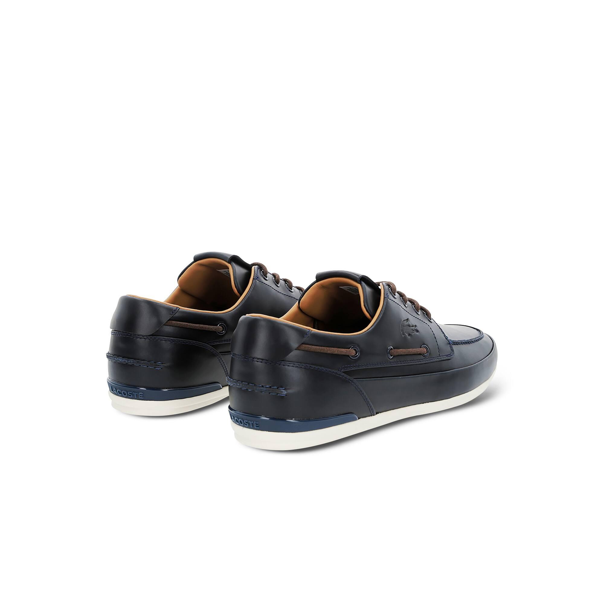1585260605 Chaussures bateau Marina homme en cuir premium | LACOSTE