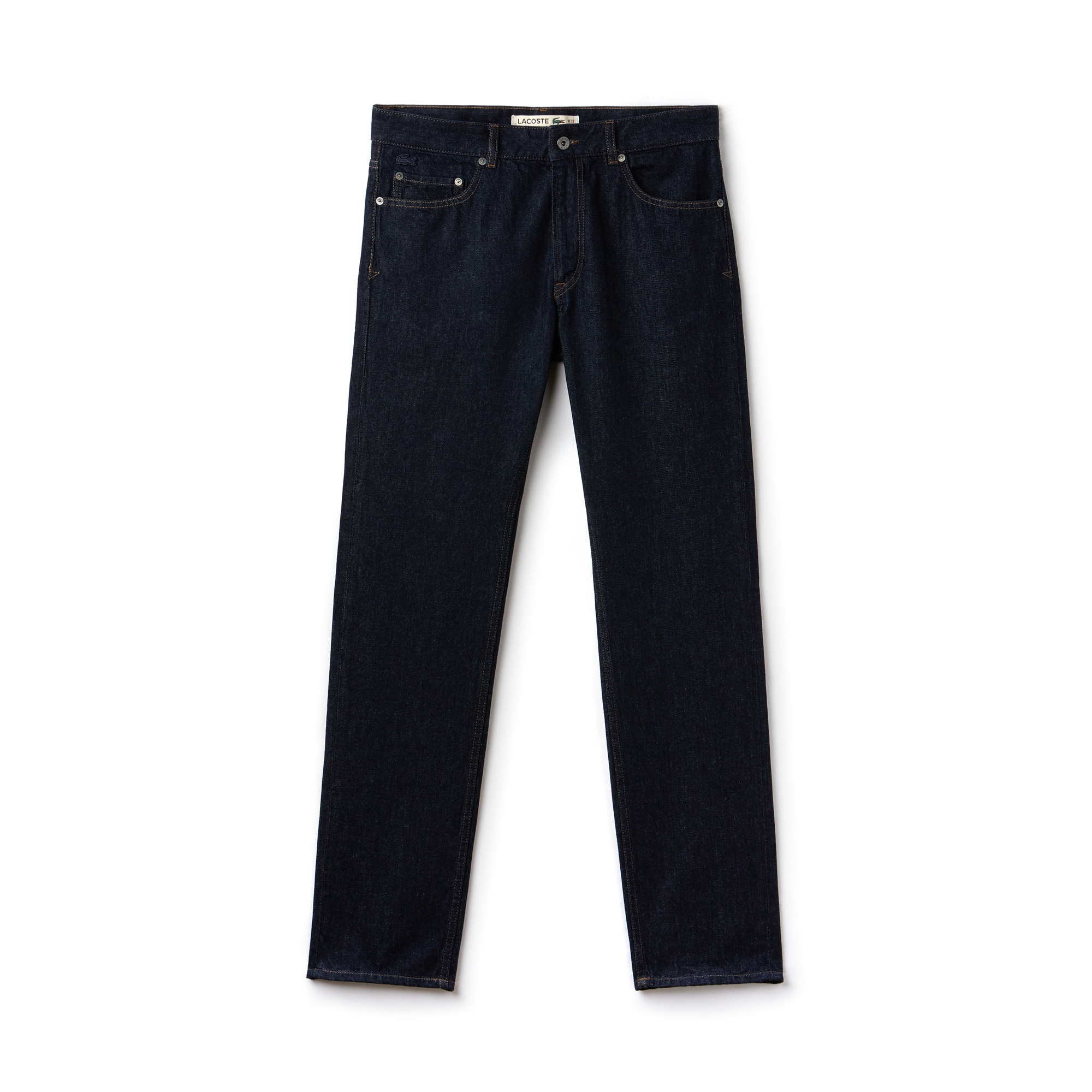 Jean 5 poches regular fit en denim de coton