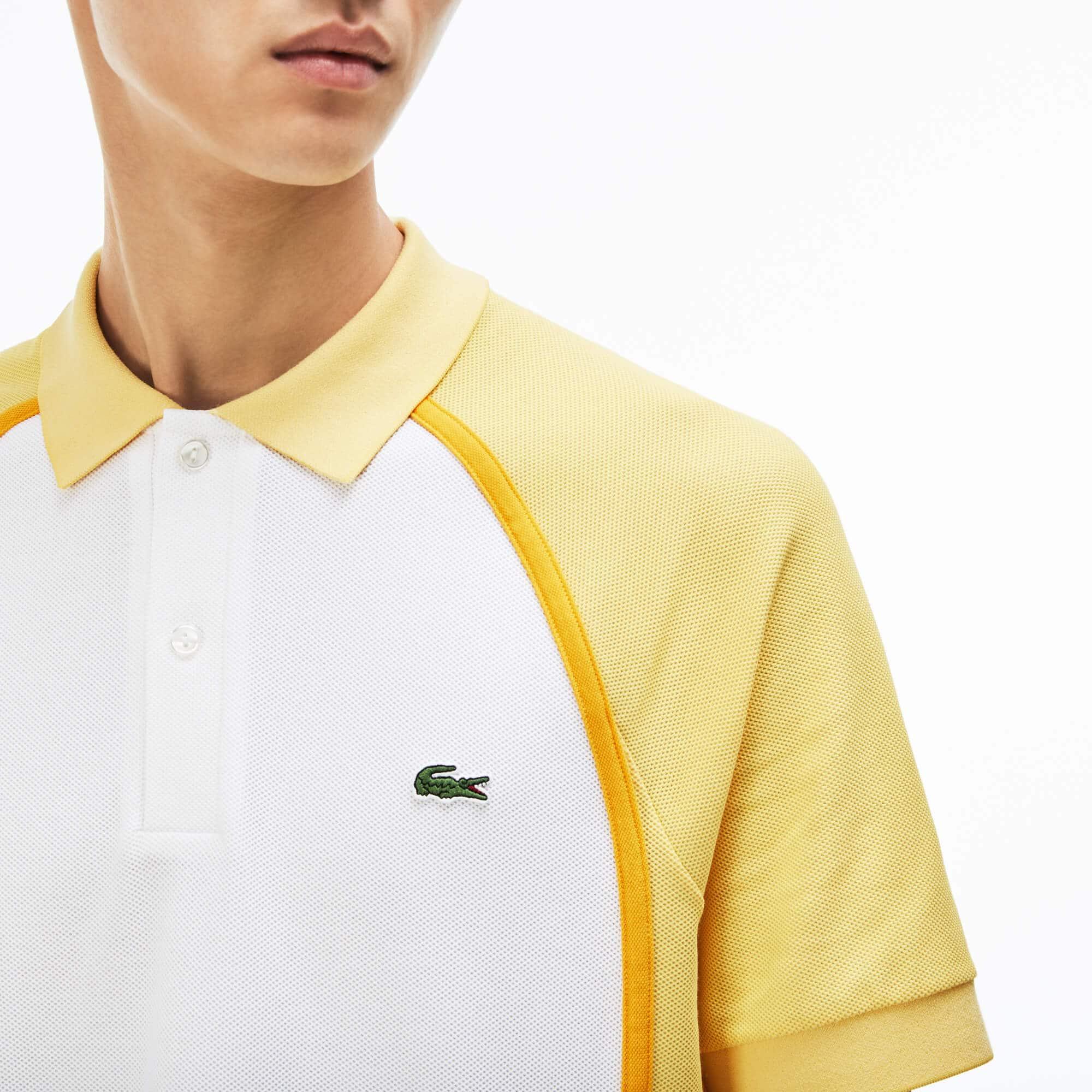 Polo regular fit Lacoste Made in France en piqué technique color block