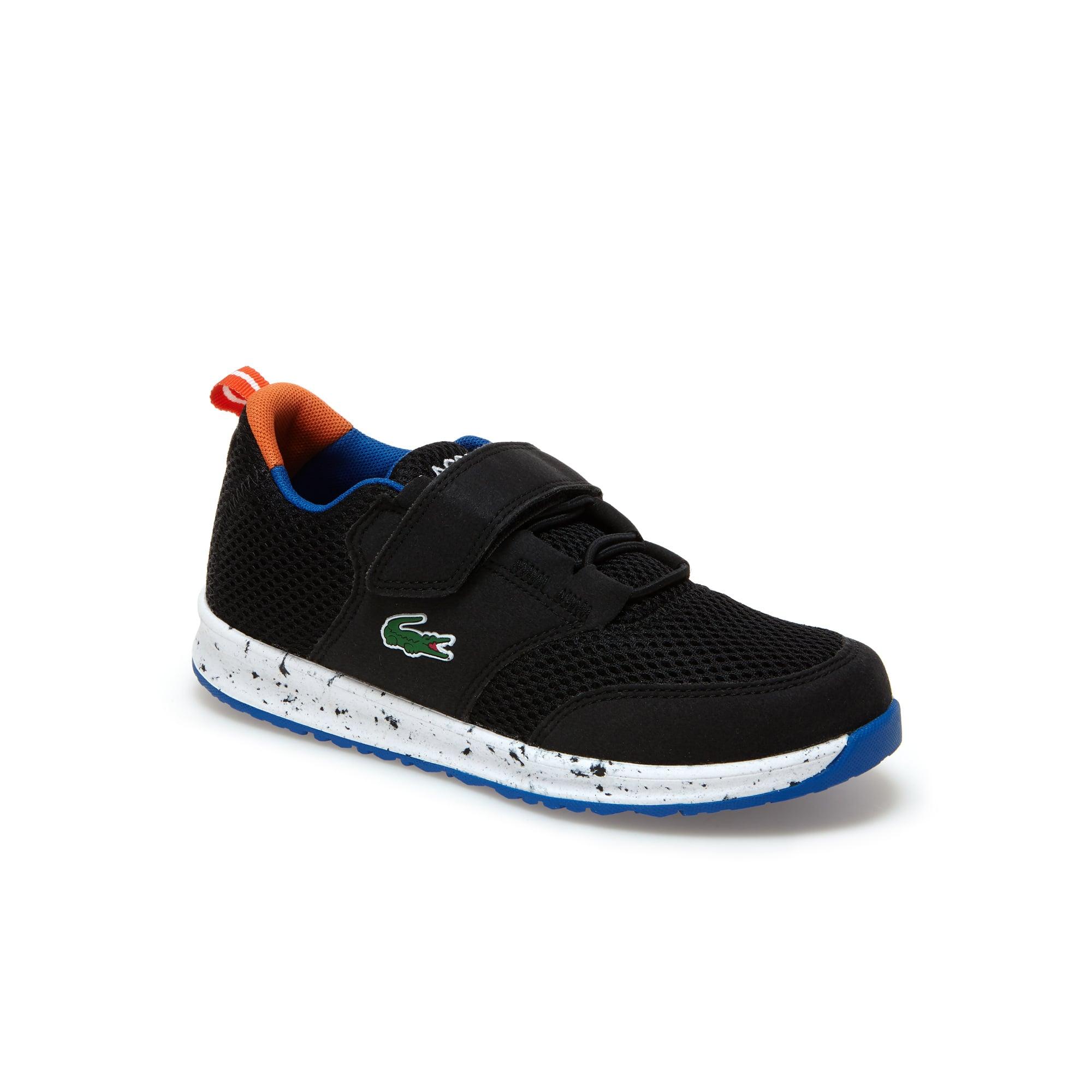 Sneakers Enfant L.ight en textile et revêtement type suédé