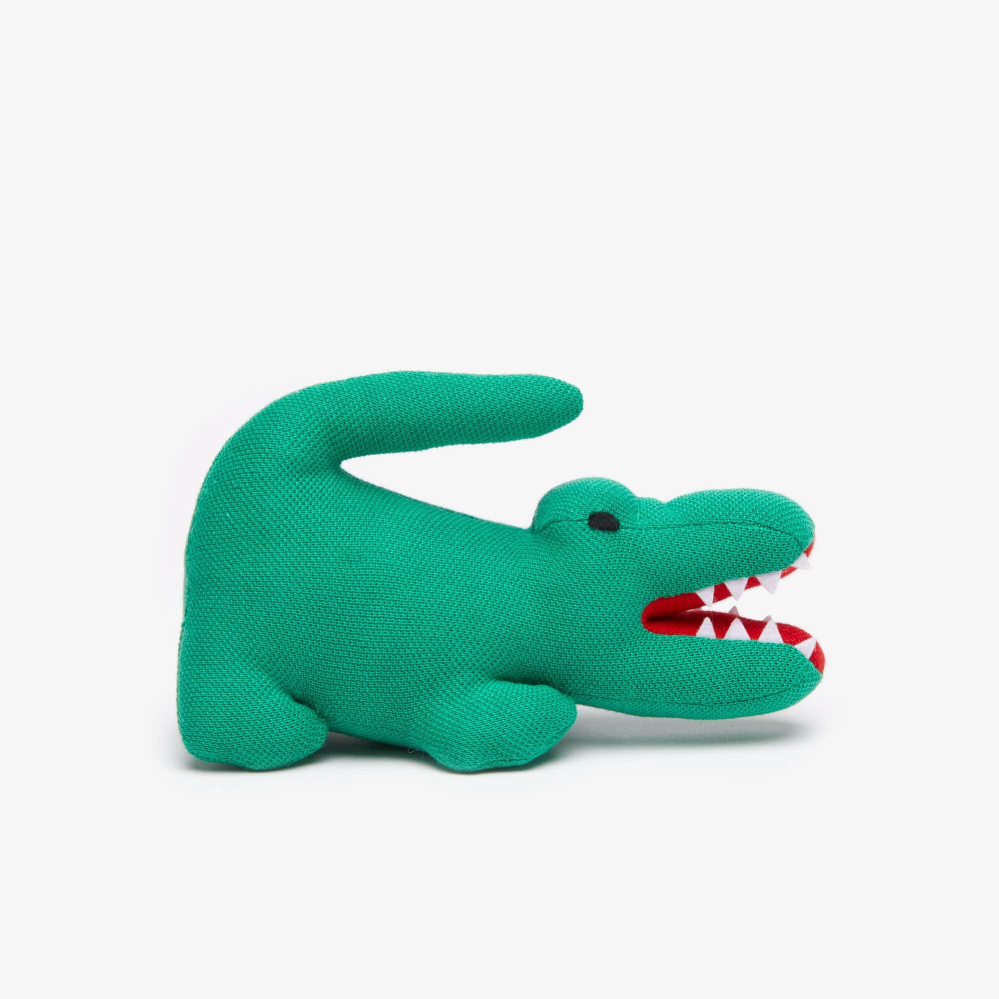 Peluche crocodile en piqué de coton