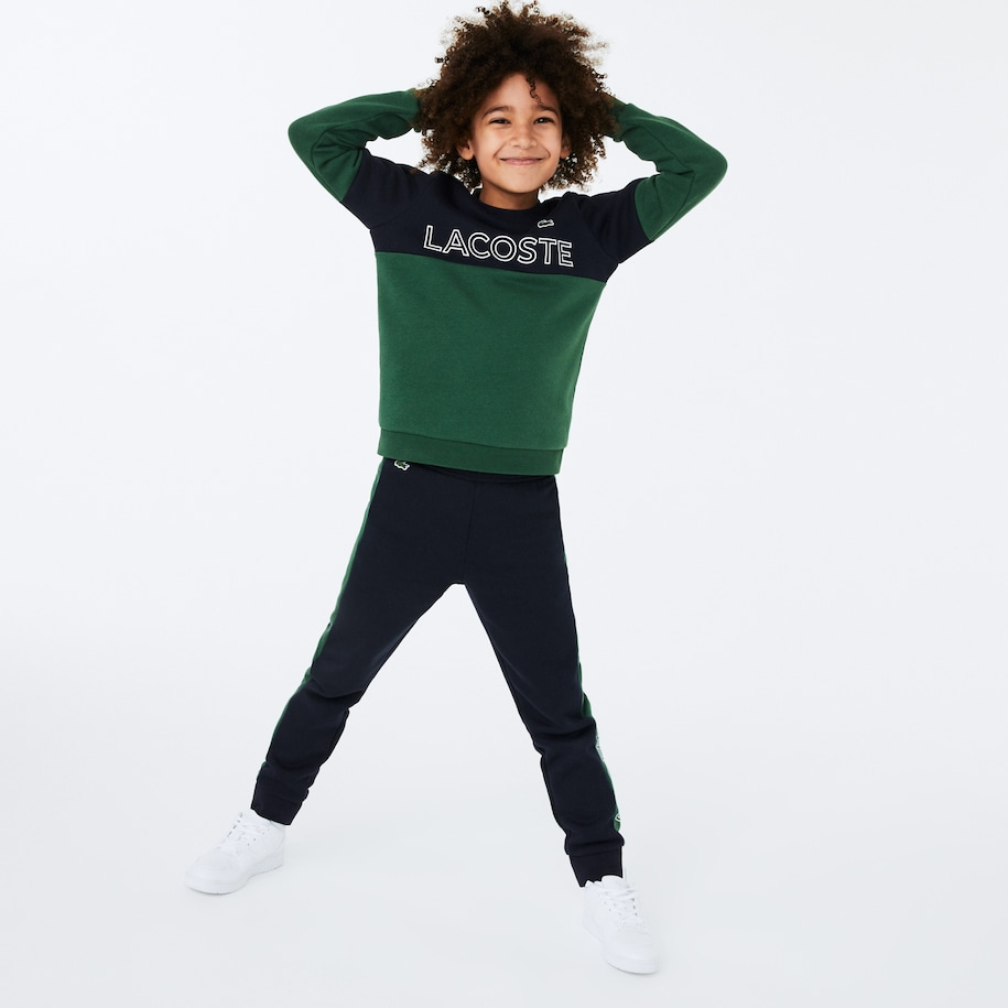 Sweatshirt Garçon Lacoste SPORT en molleton color-block