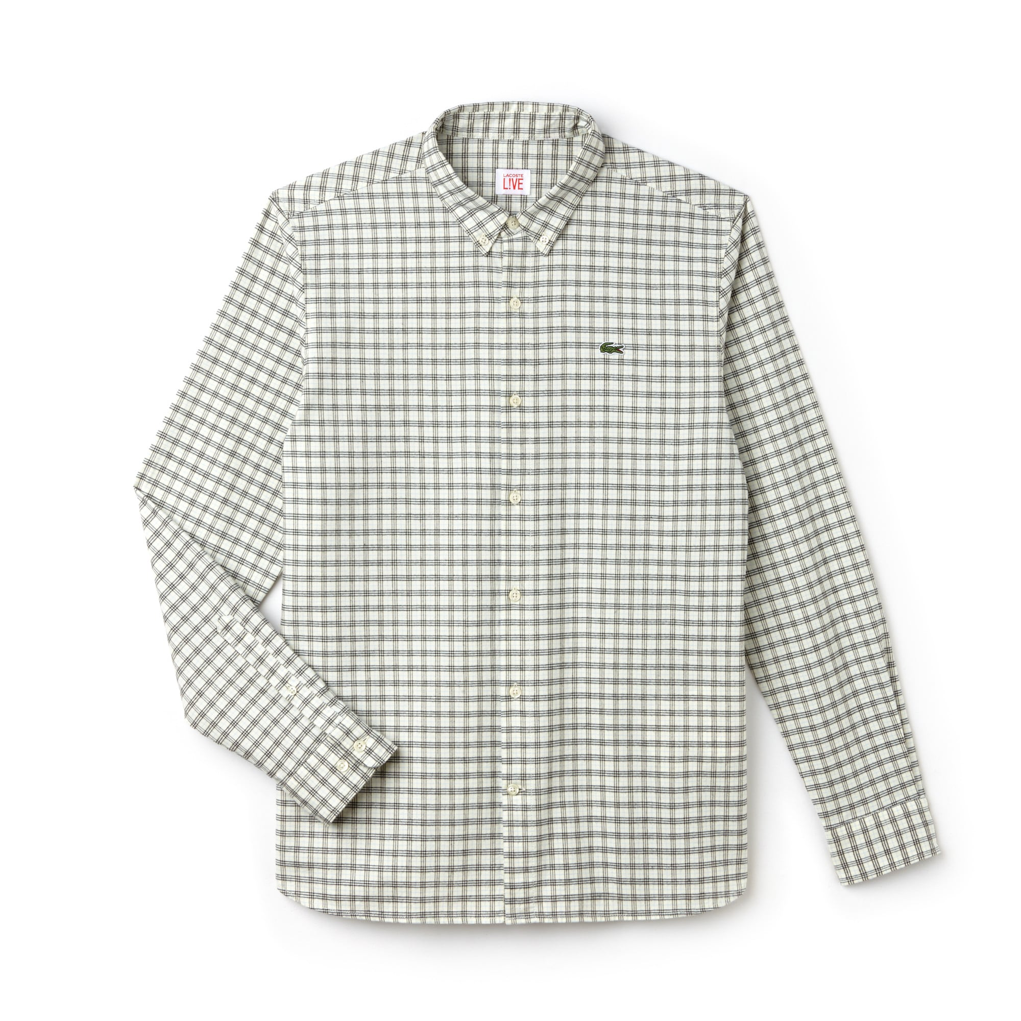 Chemise slim fit Lacoste LIVE en coton oxford à carreaux