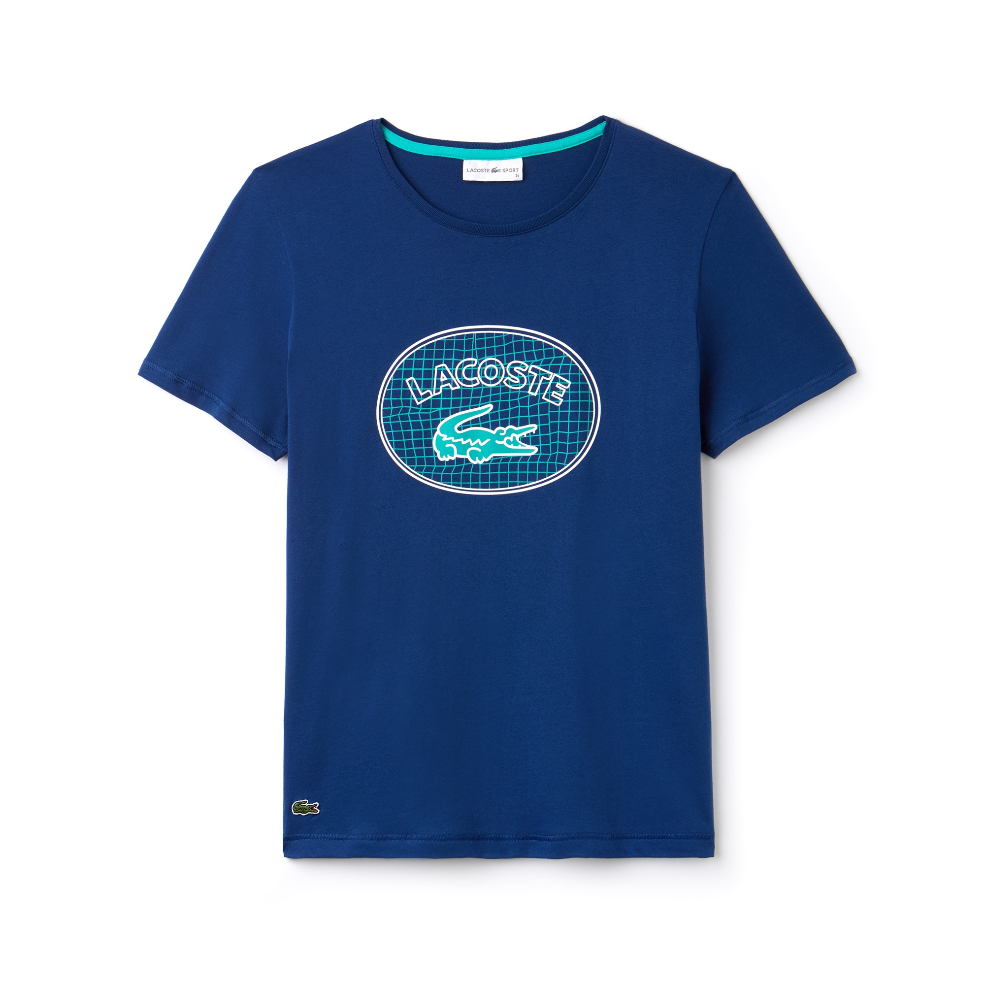 Shirt Lacoste Marquage Col Rond Sport T Oversize Avec Tennis aFRBq