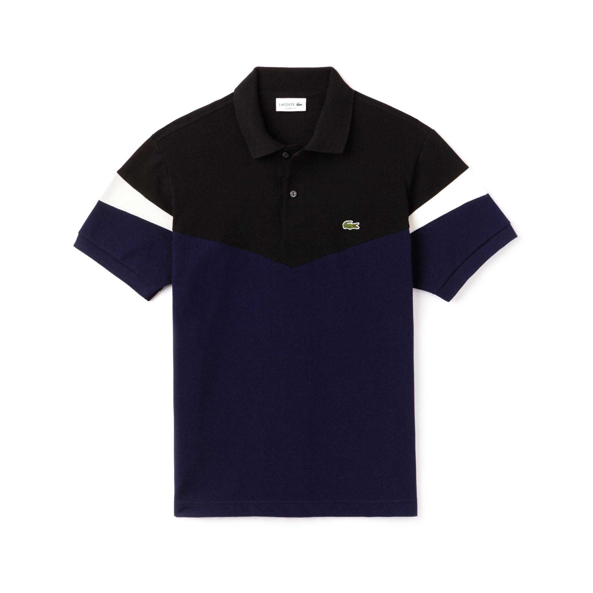 Polo classic fit Lacoste en petit piqué de coton color block