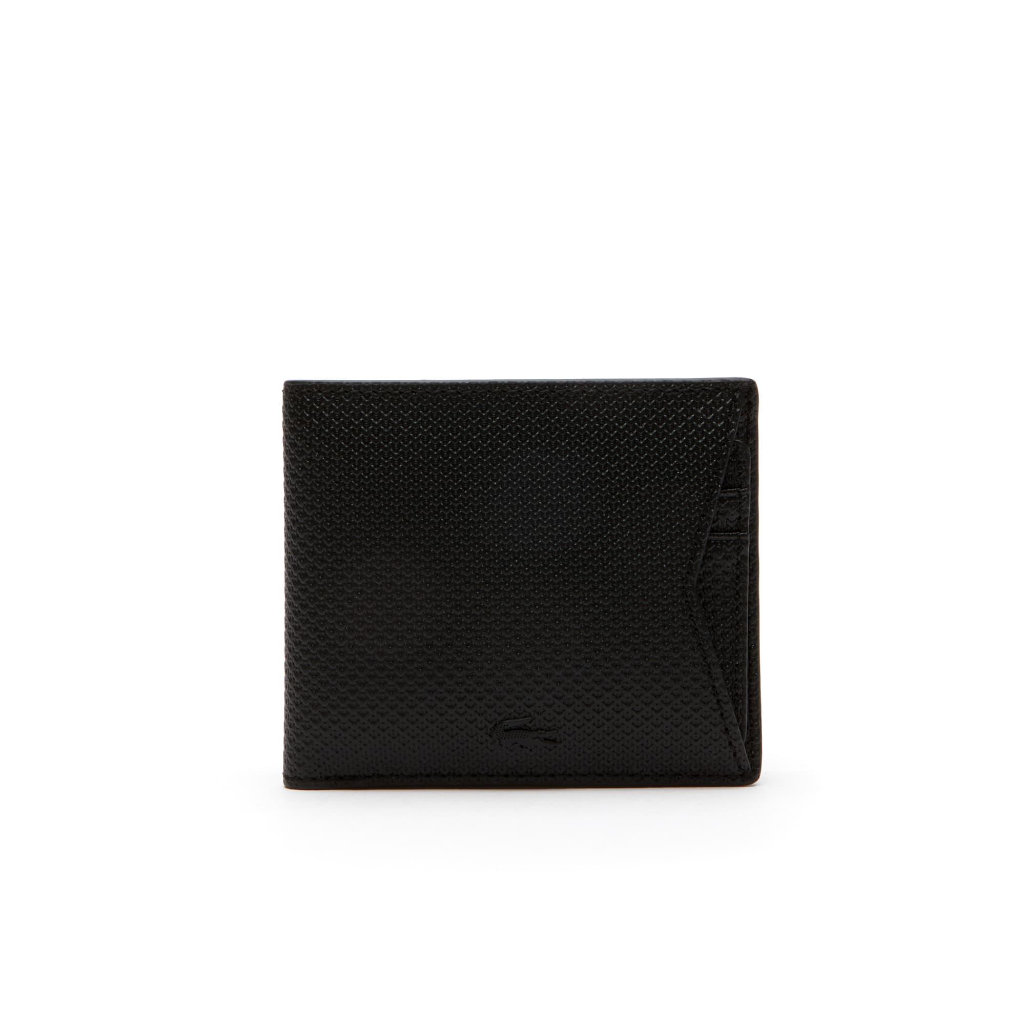 Portefeuille avec porte-cartes amovible Chantaco en cuir monochrome enduit