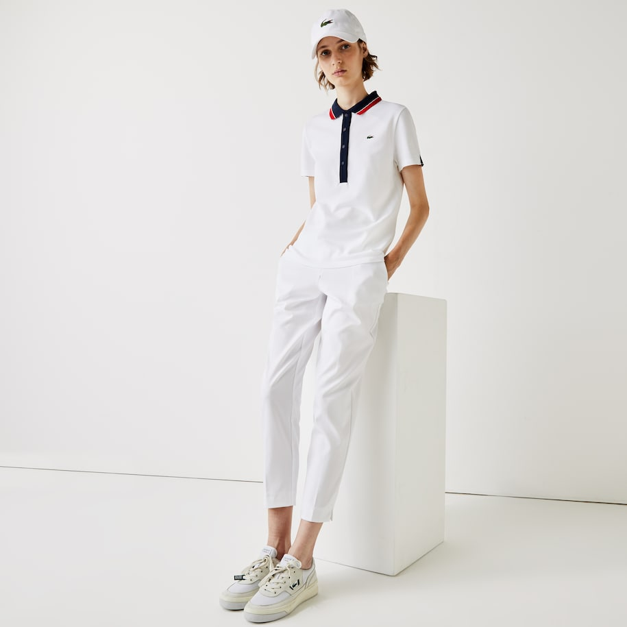 Polo Golf Lacoste SPORT stretch uni avec badge