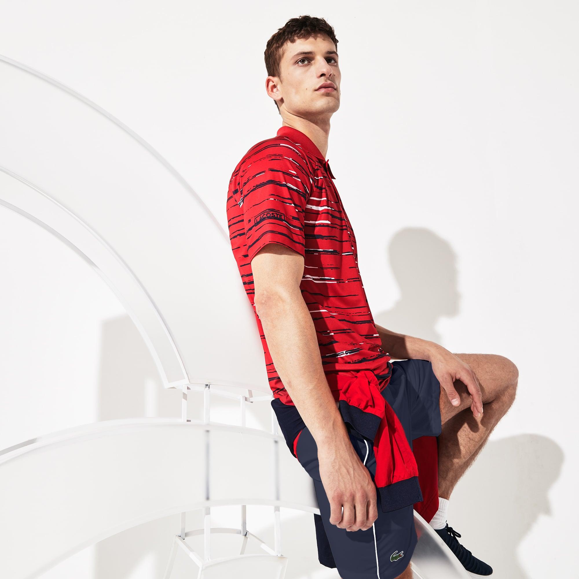Polo Lacoste SPORT x Novak Djokovic en jersey imprimé