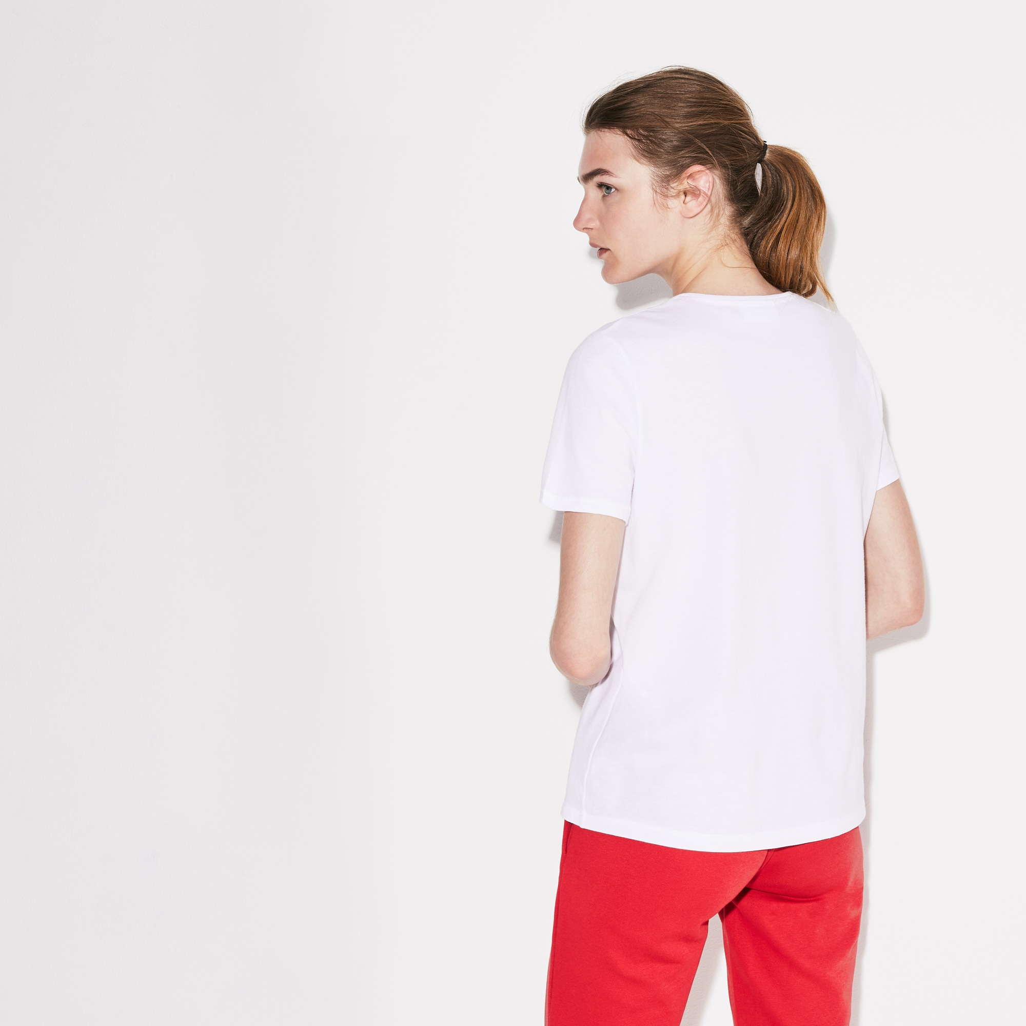 T-shirt col rond Tennis Lacoste SPORT avec marquage oversize