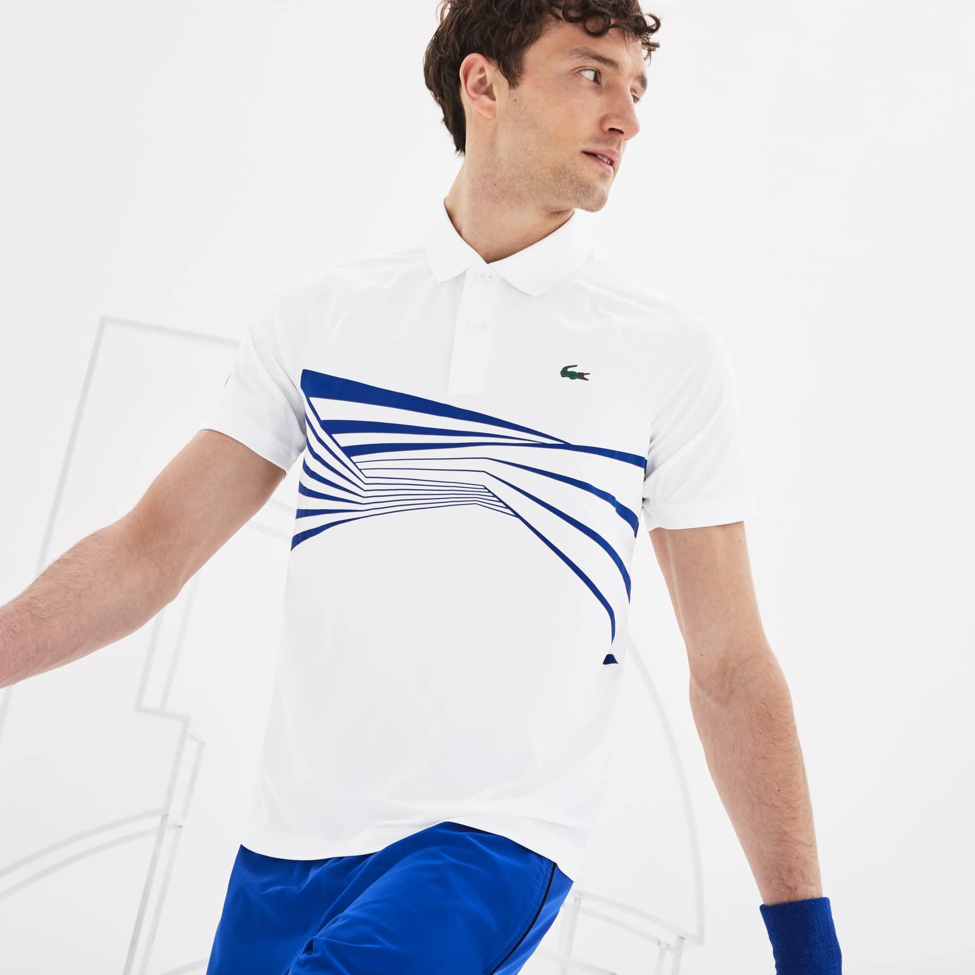 3c0a2732cd Polo Lacoste SPORT x Novak Djokovic à imprimé graphique | LACOSTE