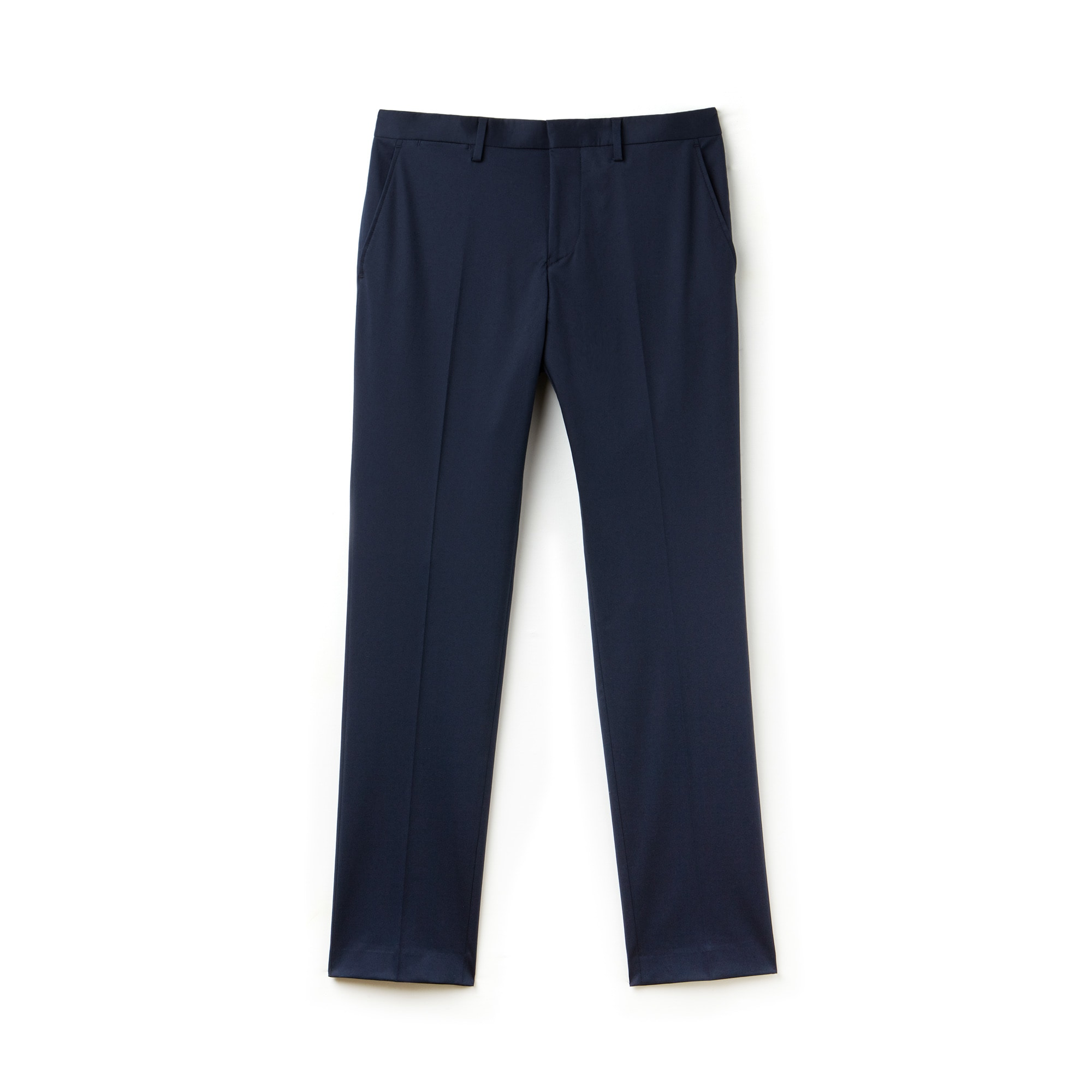 Pantalon chino à pinces slim fit en gabardine unie