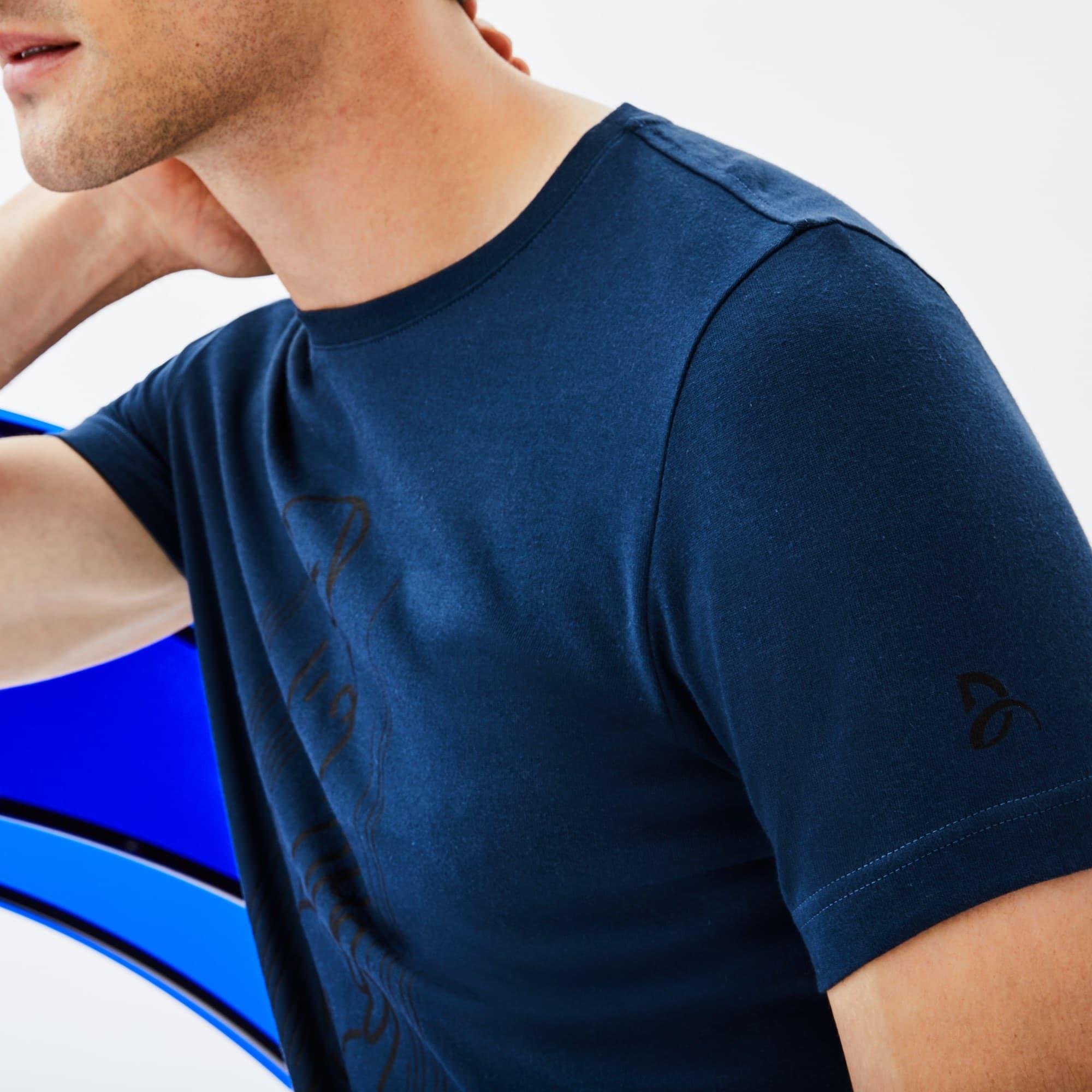 T-shirt col rond Lacoste SPORT Collection Novak Djokovic Support With Style - Off Court en jersey technique avec imprimé
