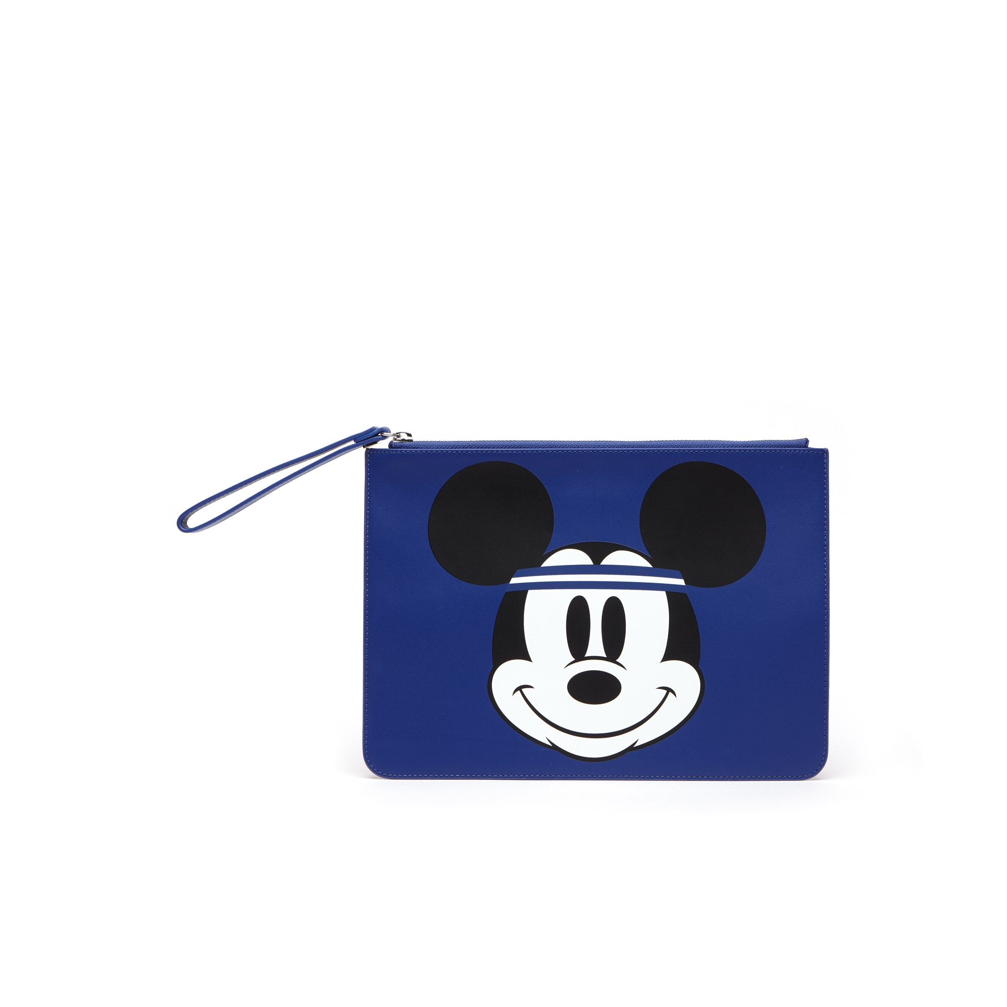Pochette zippée Holiday Collector en cuir imprimé Mickey Collab Disney