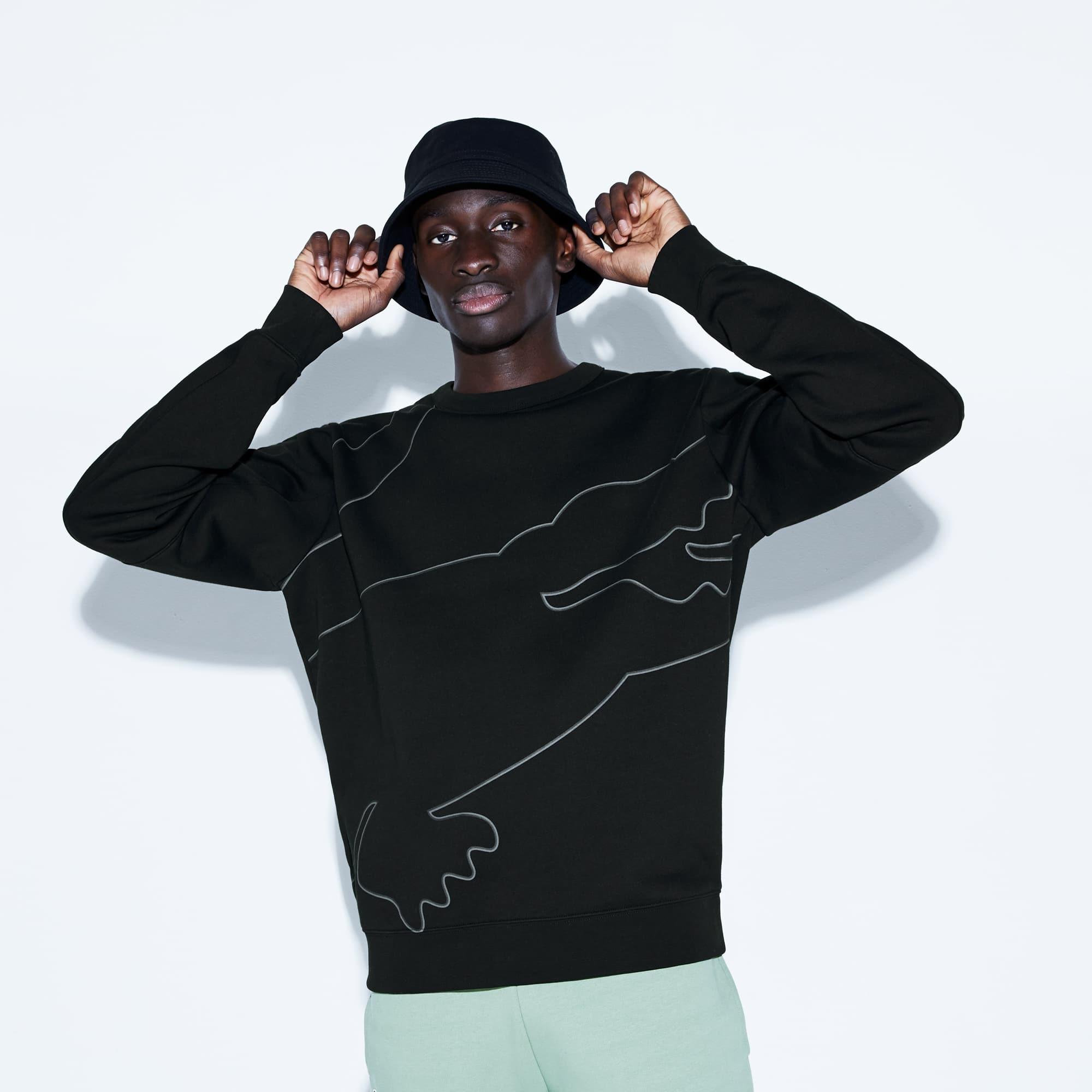 675cc2f7bf Sweatshirt Lacoste SPORT en molleton gratté avec maxi croco | LACOSTE