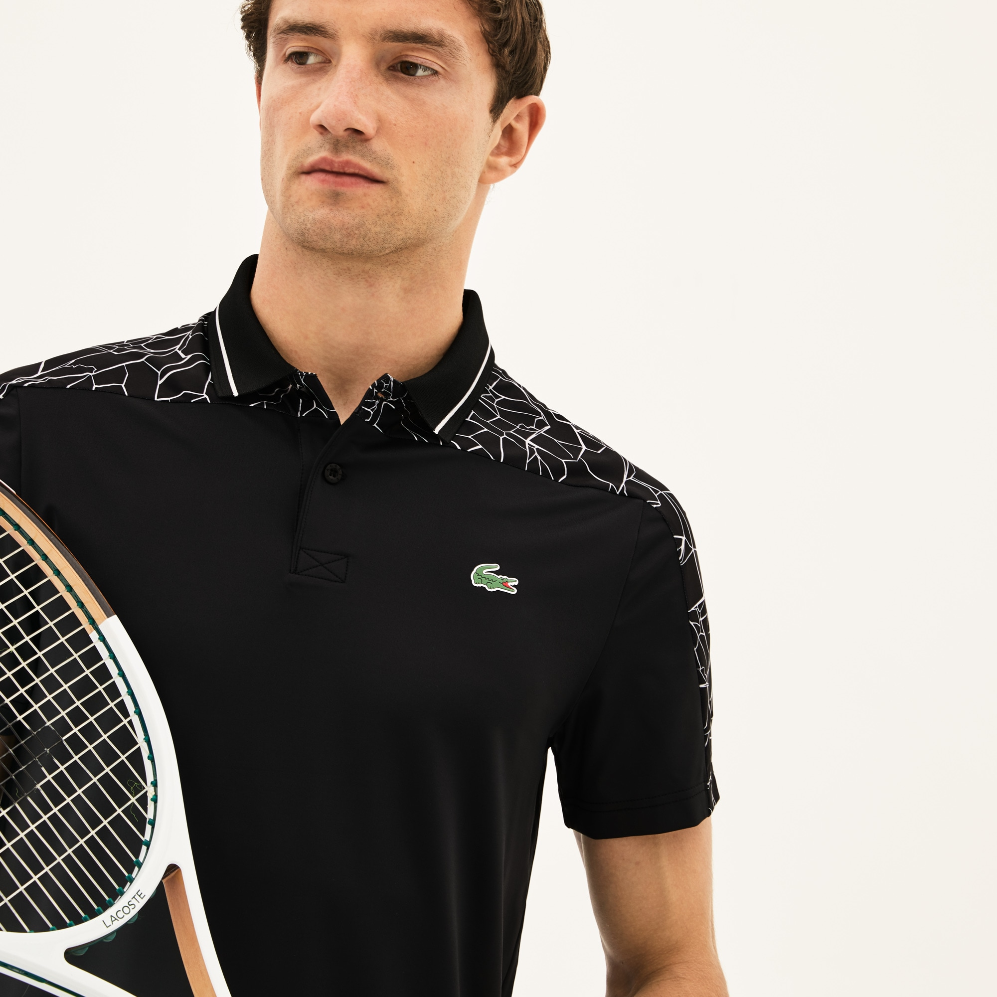 Polo Lacoste SPORT Collection Novak Djokovic - Off Court en jersey stretch technique