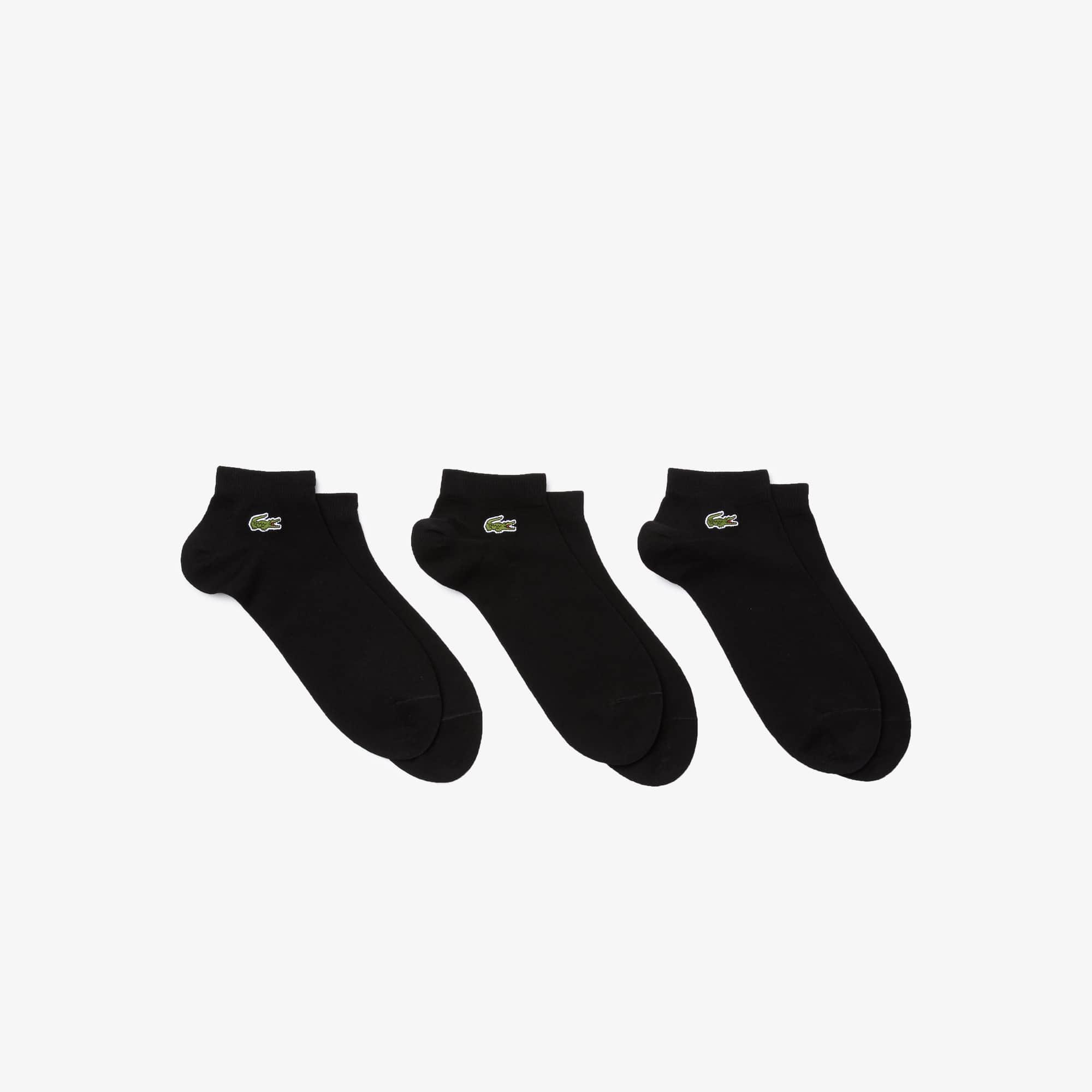 Lot de 3 paires de socquettes Lacoste SPORT en jersey uni
