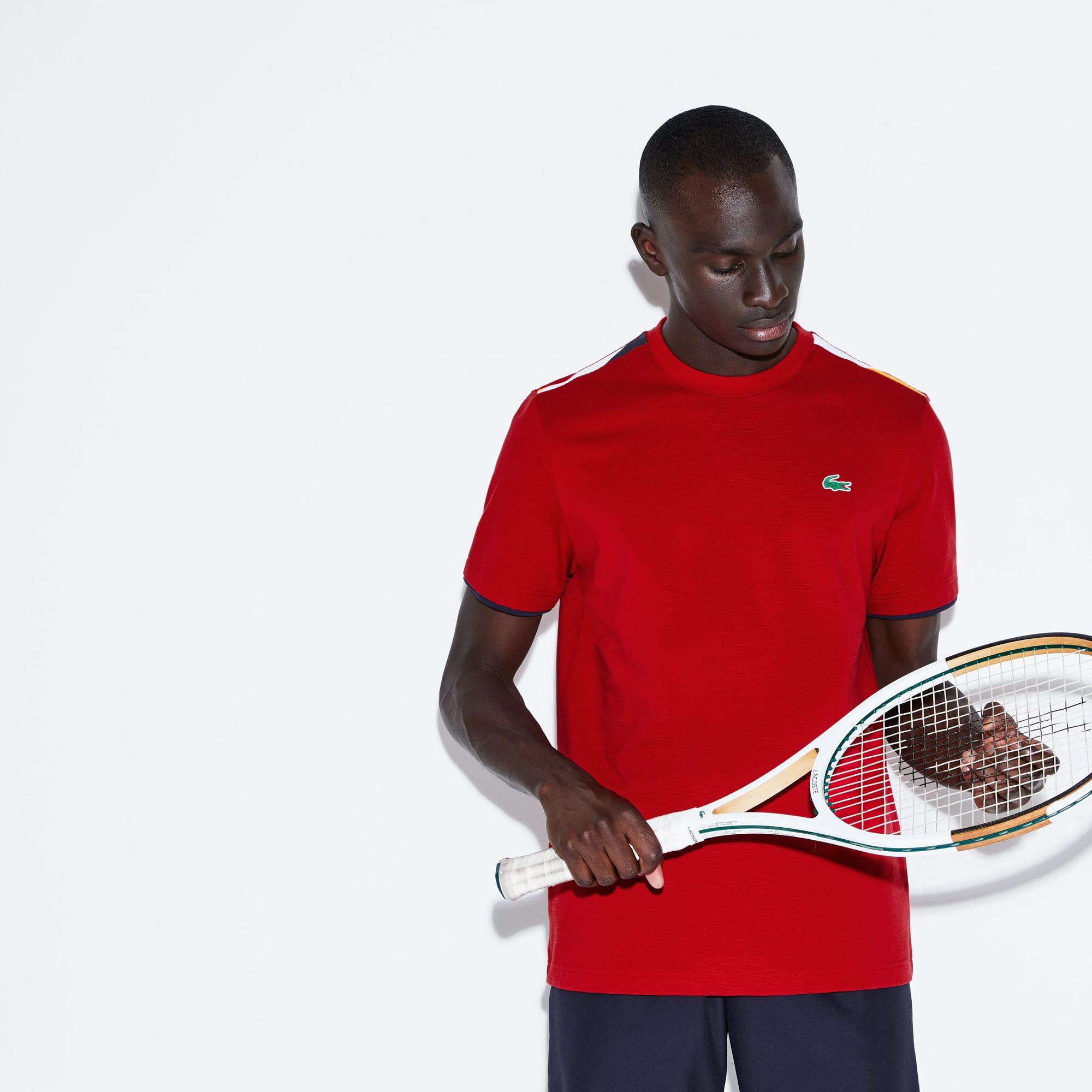 T-shirt col rond Tennis Lacoste SPORT en coton ultra léger détails contrastés