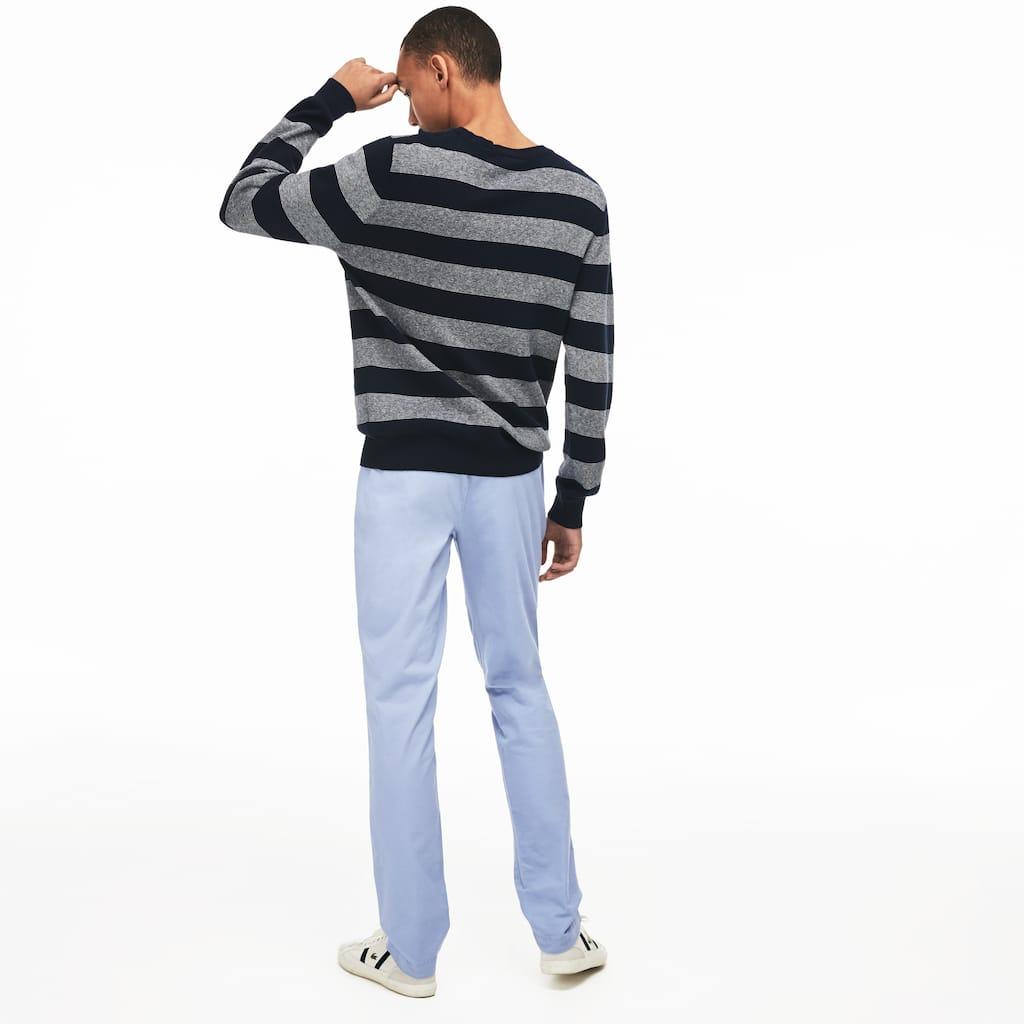 e6f40d4dfd8b Pantalon chino slim fit en gabardine stretch unie