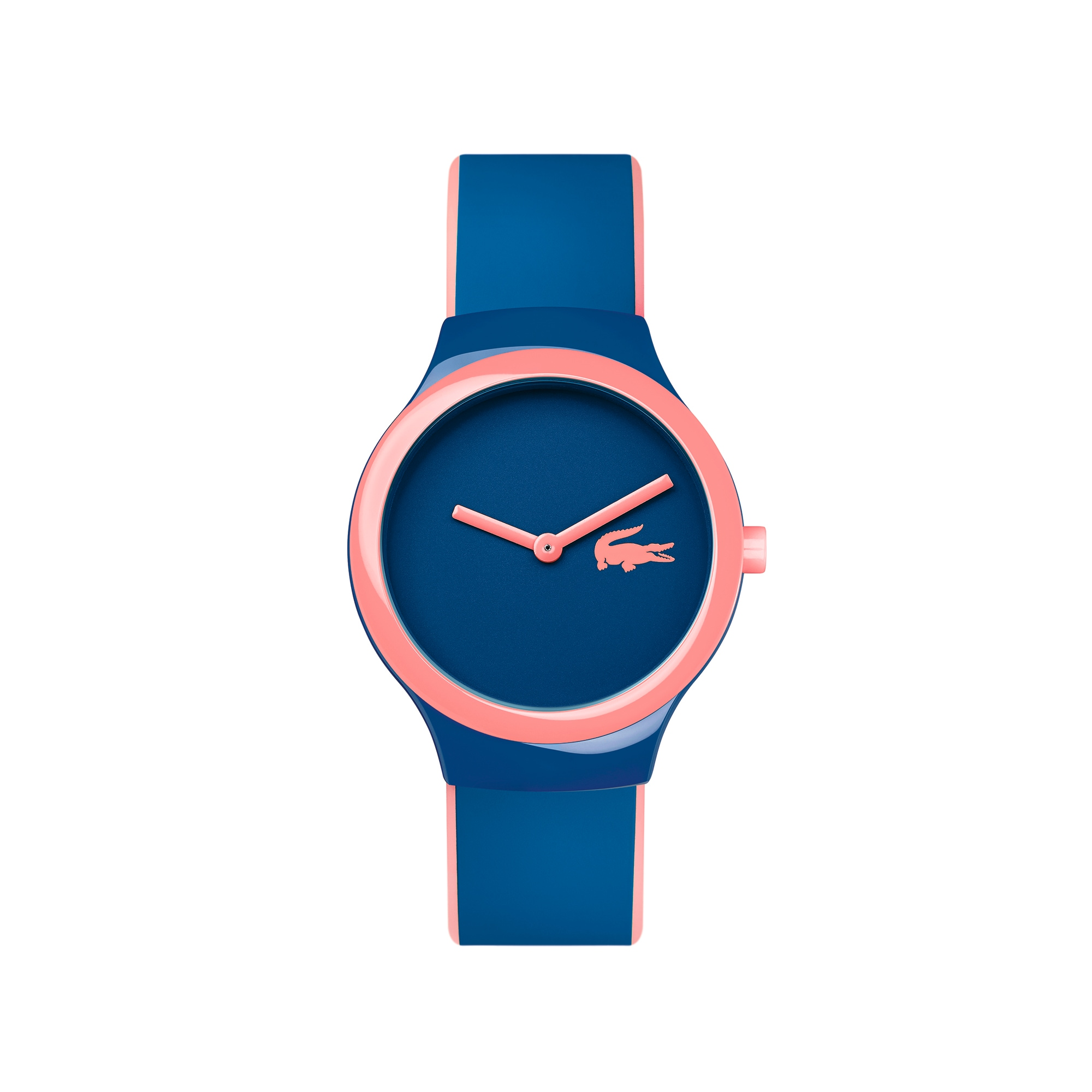 Montre Goa new bleue et rose - bracelet silicone