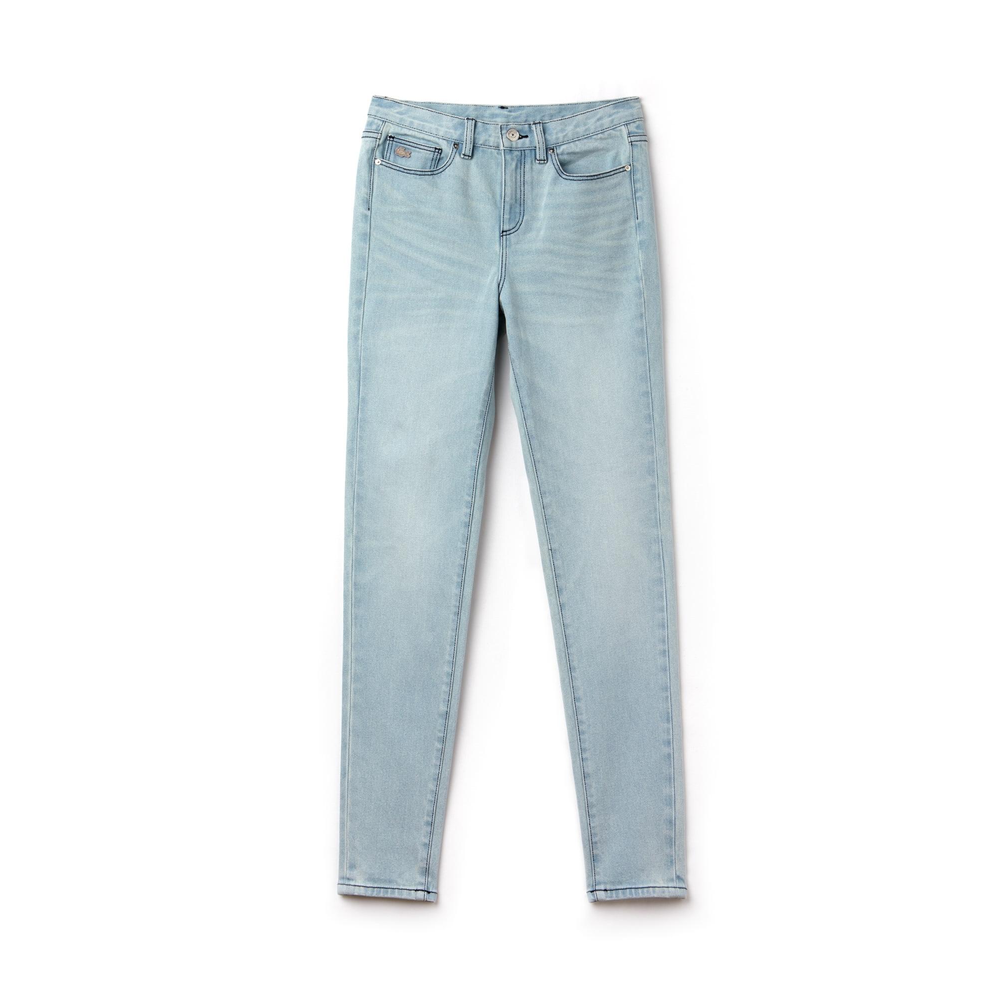 Jean 5 poches Lacoste LIVE en denim de coton stretch