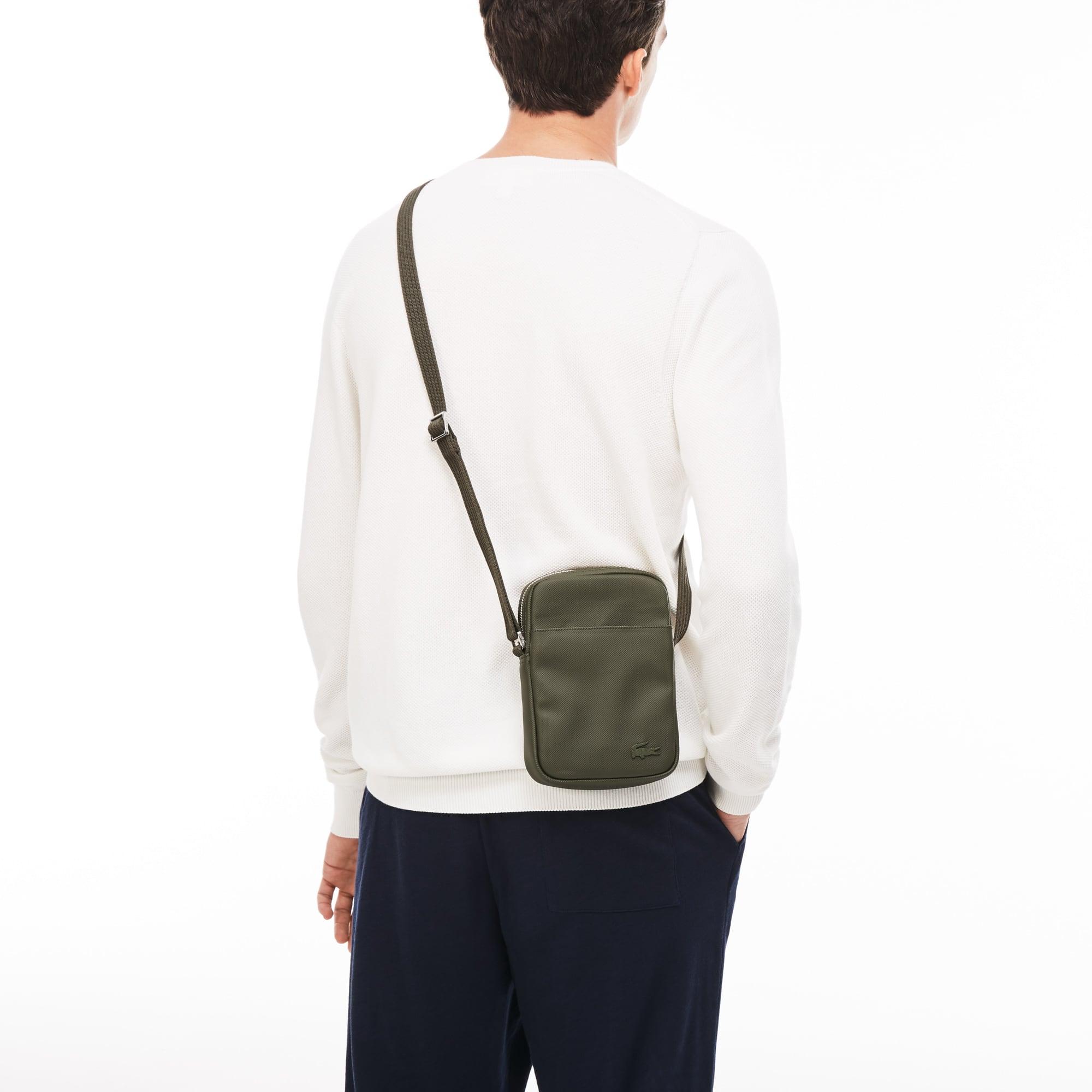 Sacoche zippée verticale Men's Classic en petit piqué uni