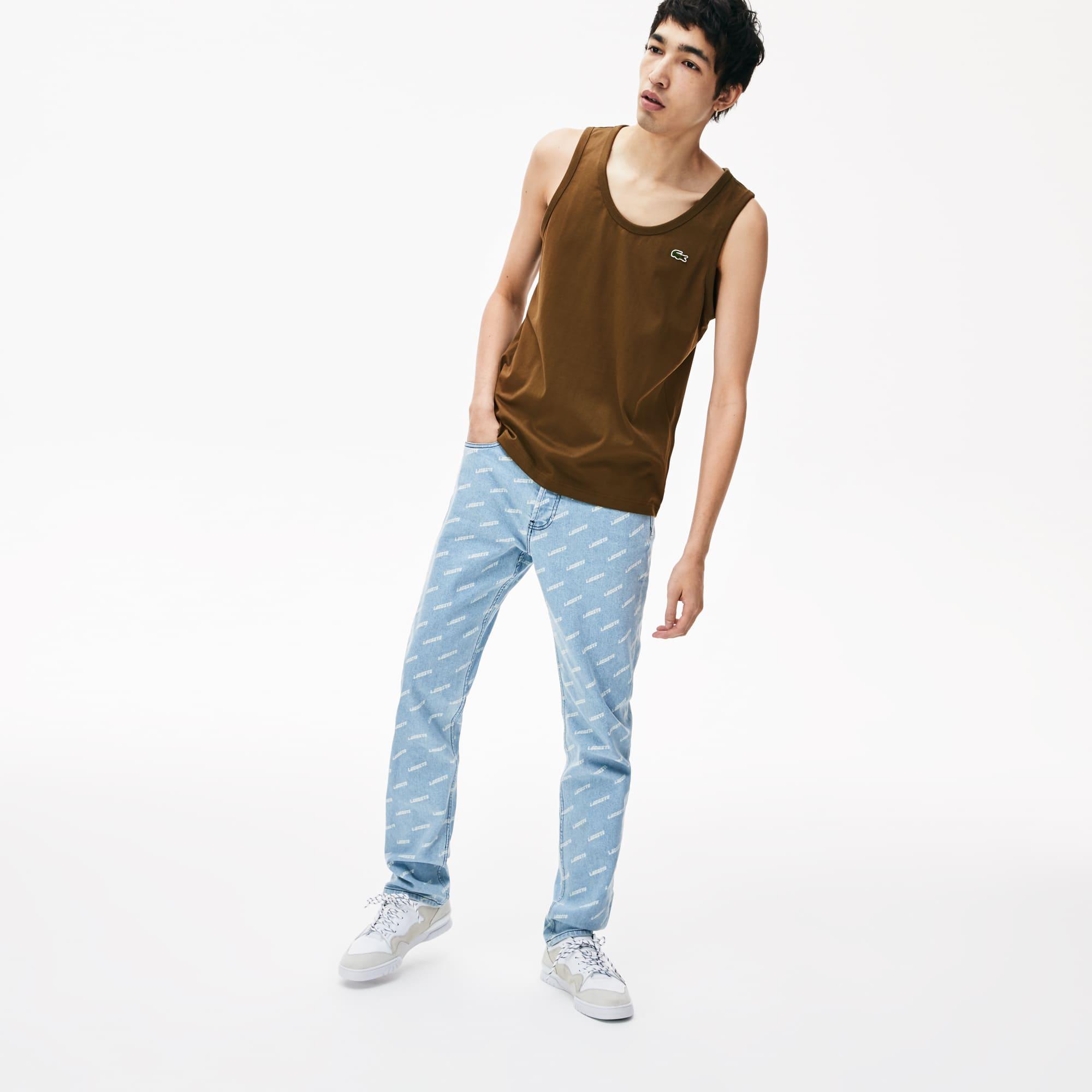c6a472c9b6e31 Débardeur Lacoste LIVE en jersey de coton avec poche