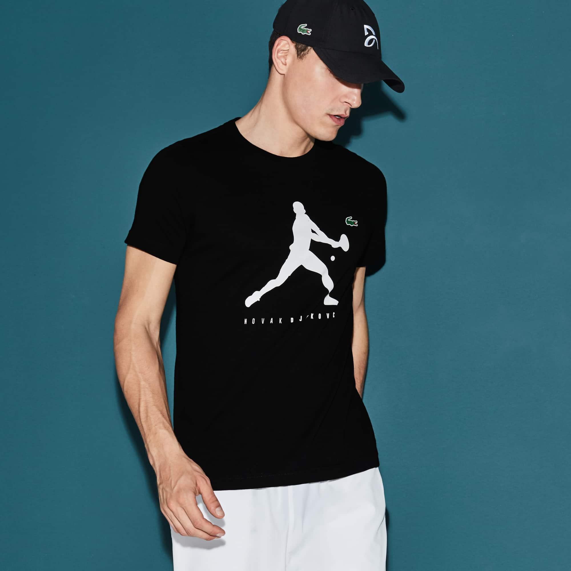 T-shirt Col Rond en Jersey Uni avec Imprimé - Collection Novak Djokovic Support With Style