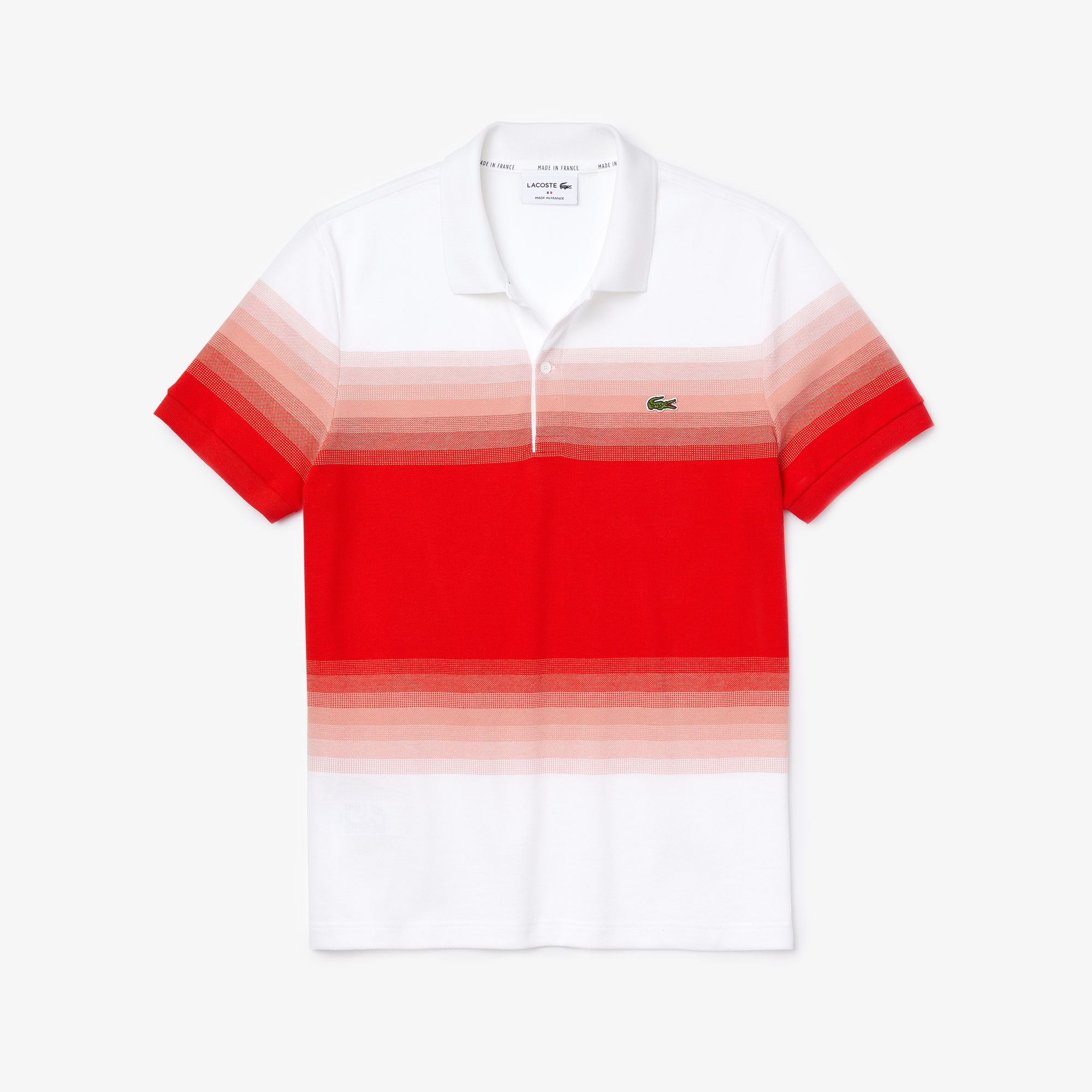 Polo Lacoste regular fit Made in France en piqué de coton dégradé
