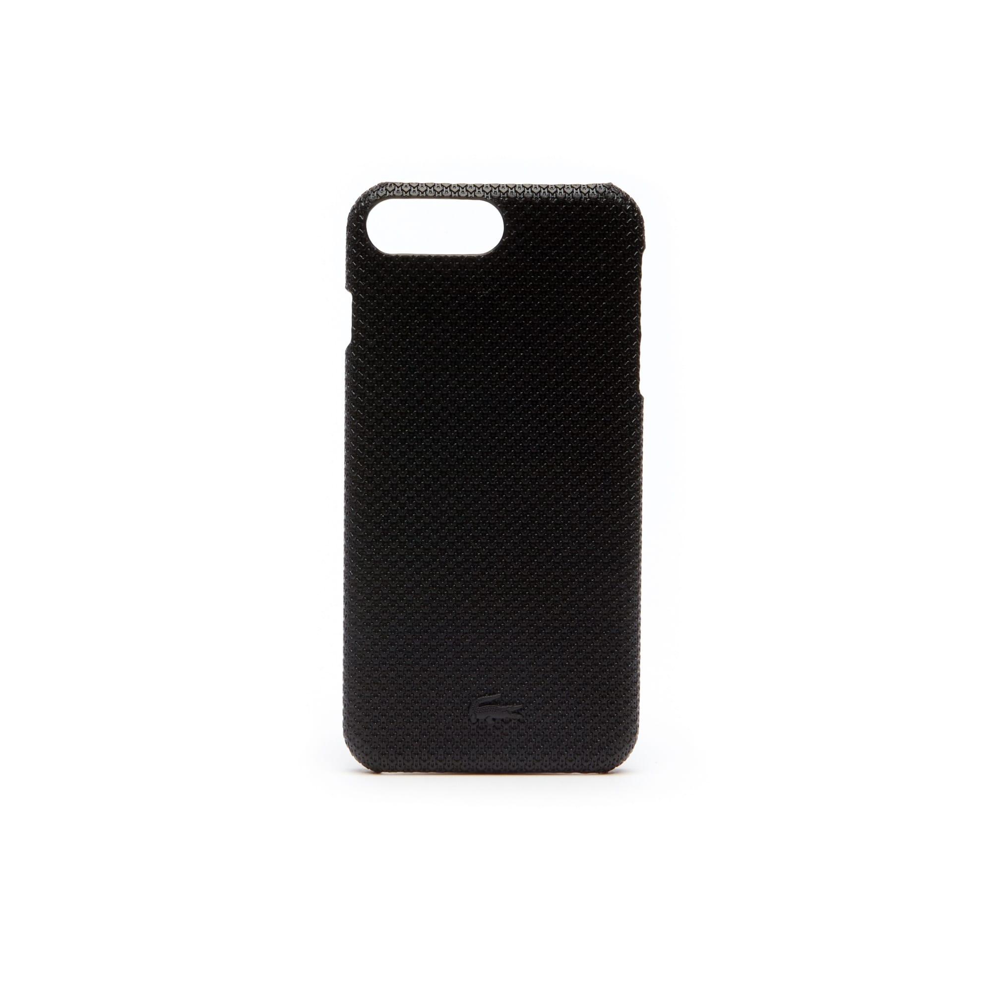 Coque iPhone 8+ Chantaco en cuir piqué mat uni
